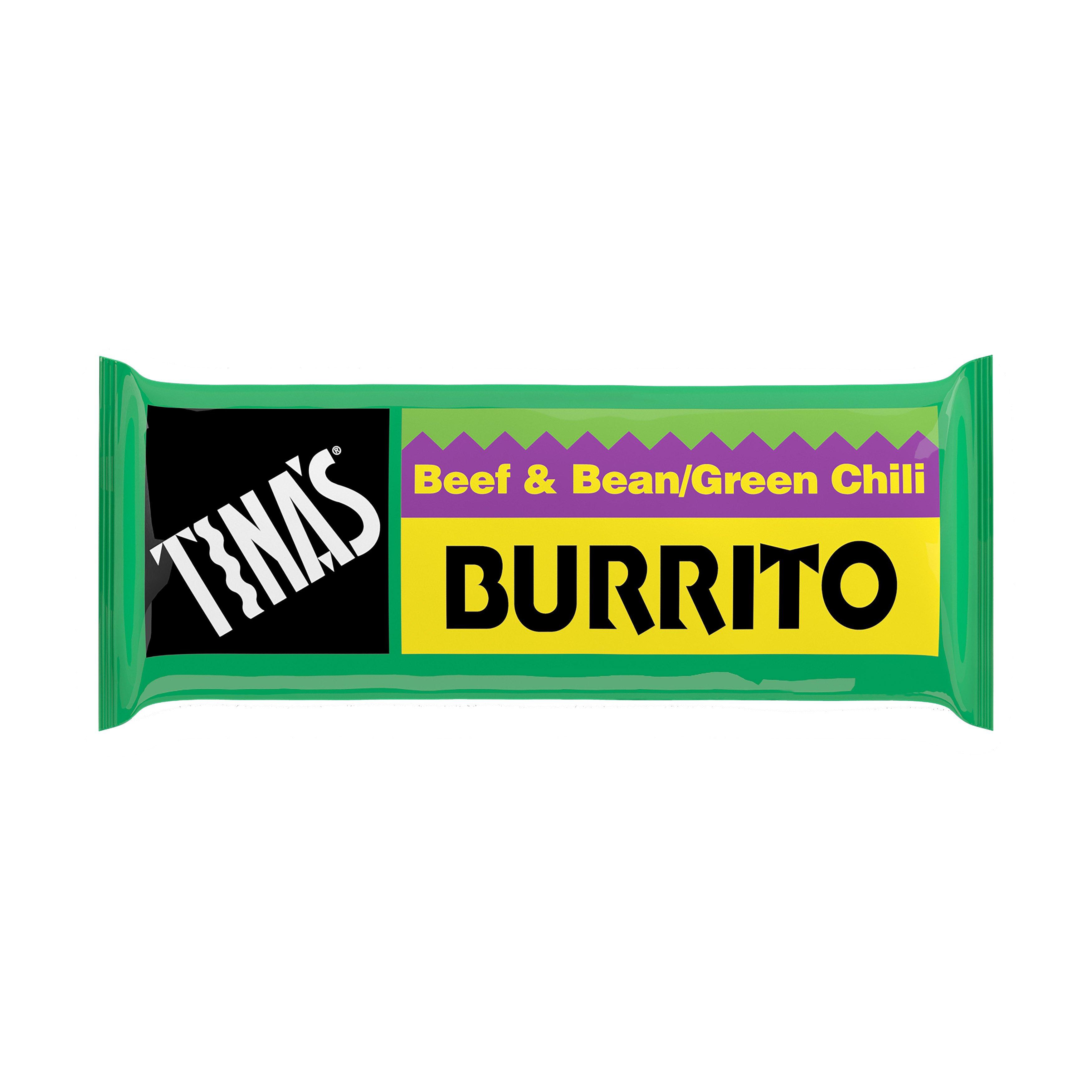 Tinau0027s Beef And Bean/Green Chili Burrito