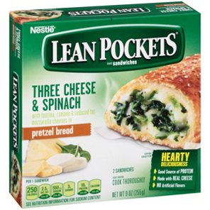 Lean Pockets Pretzel Bread Three Cheese And Spinach With Sandwiches