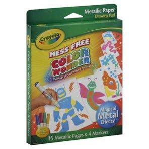 crayola mess free color wonder metallic paper drawing pad shop