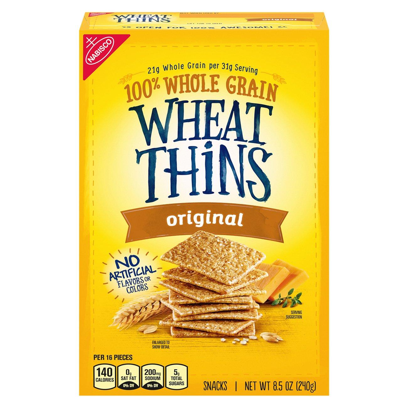 Nabisco Wheat Thins Original Crackers Shop Crackers Breadsticks At H E B