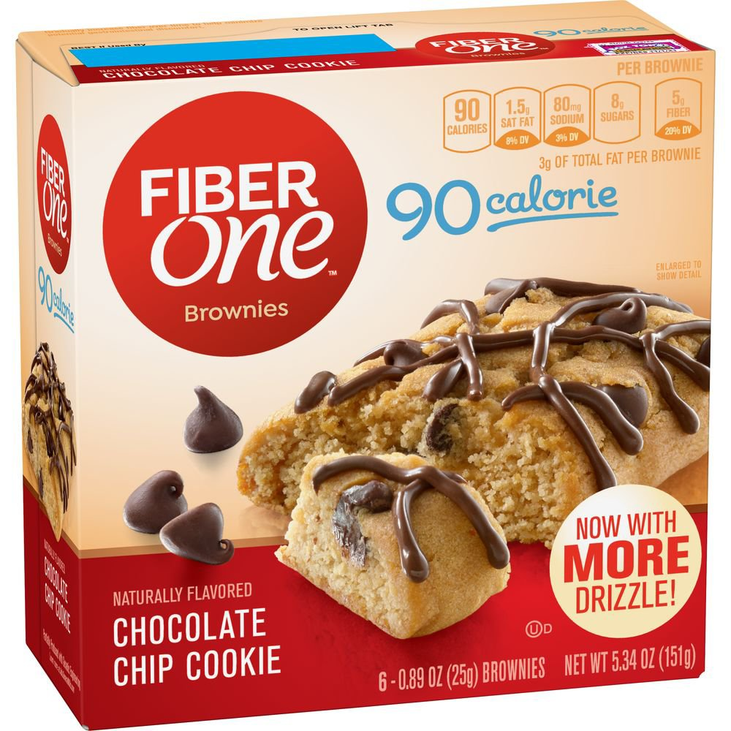 calories in one brownie