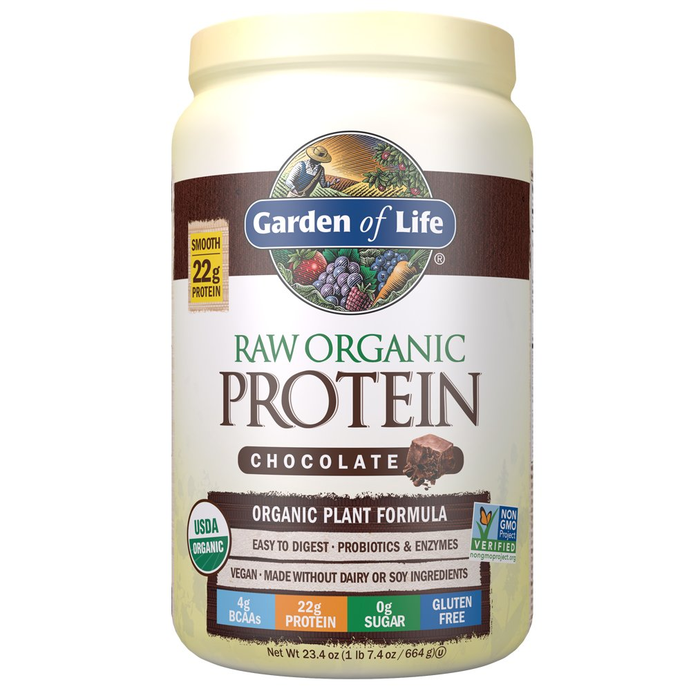 Garden of Life Raw Protein Chocolate Cacao Organic Protein Powder