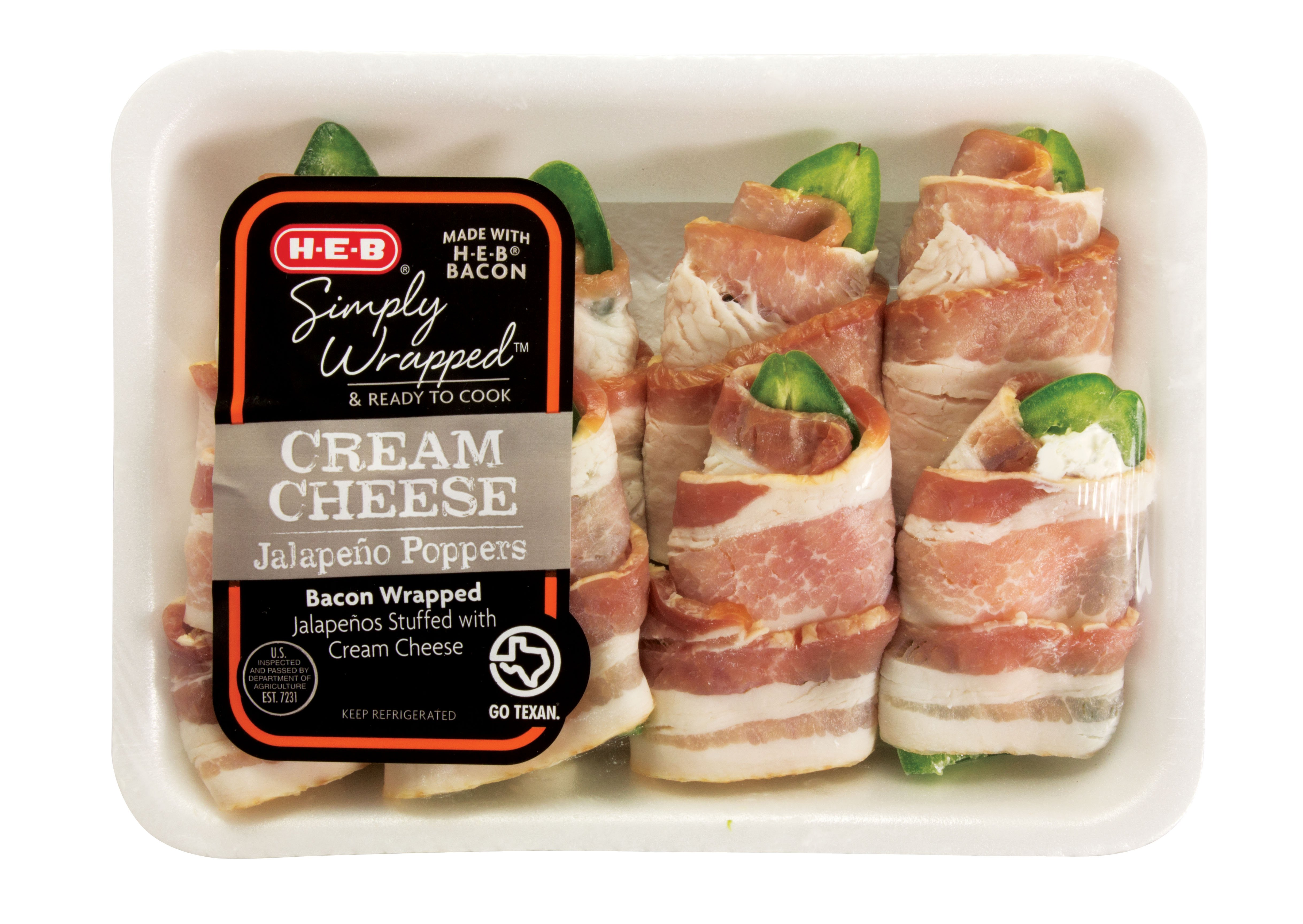 H‑e‑b Simply Wrapped Cream Cheese Poppers €� Shop Fajitas And Prepared Meats  At Heb