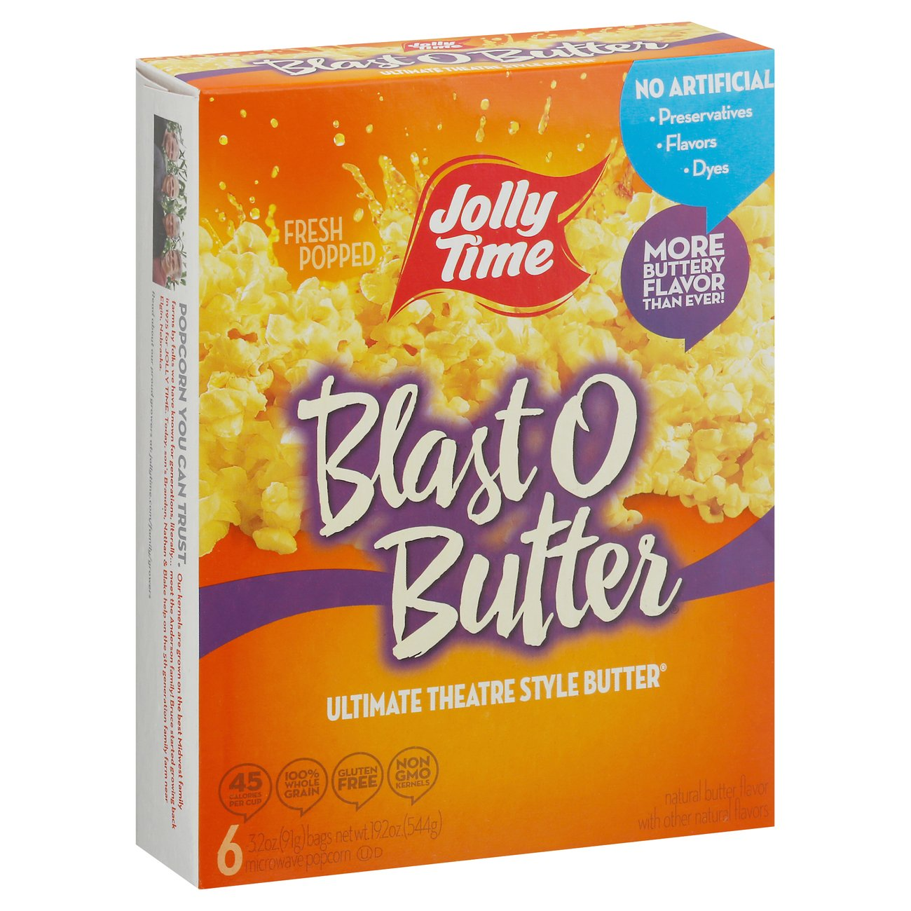 Jolly Time Blast O Butter Ultimate Theatre Style Butter Microwave Popcorn - Shop Popcorn at H-E-B