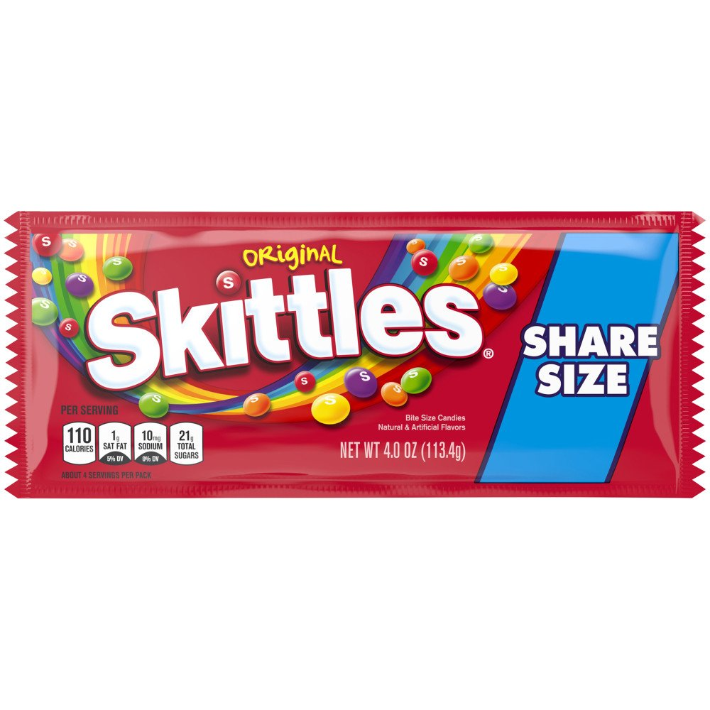 Skittles Original Candy Share Size Pack Shop Candy At H E B
