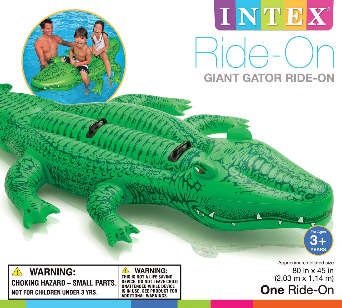 Intex Inflatable Giant Gator Ride On   Shop Pool Supplies At HEB