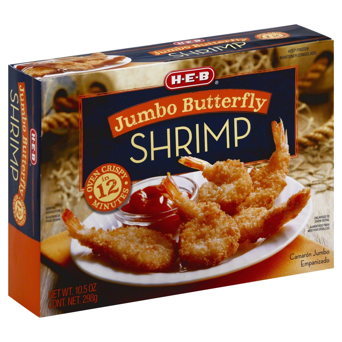 H E B Jumbo Butterfly Shrimp Shop Shrimp Shellfish At H E B