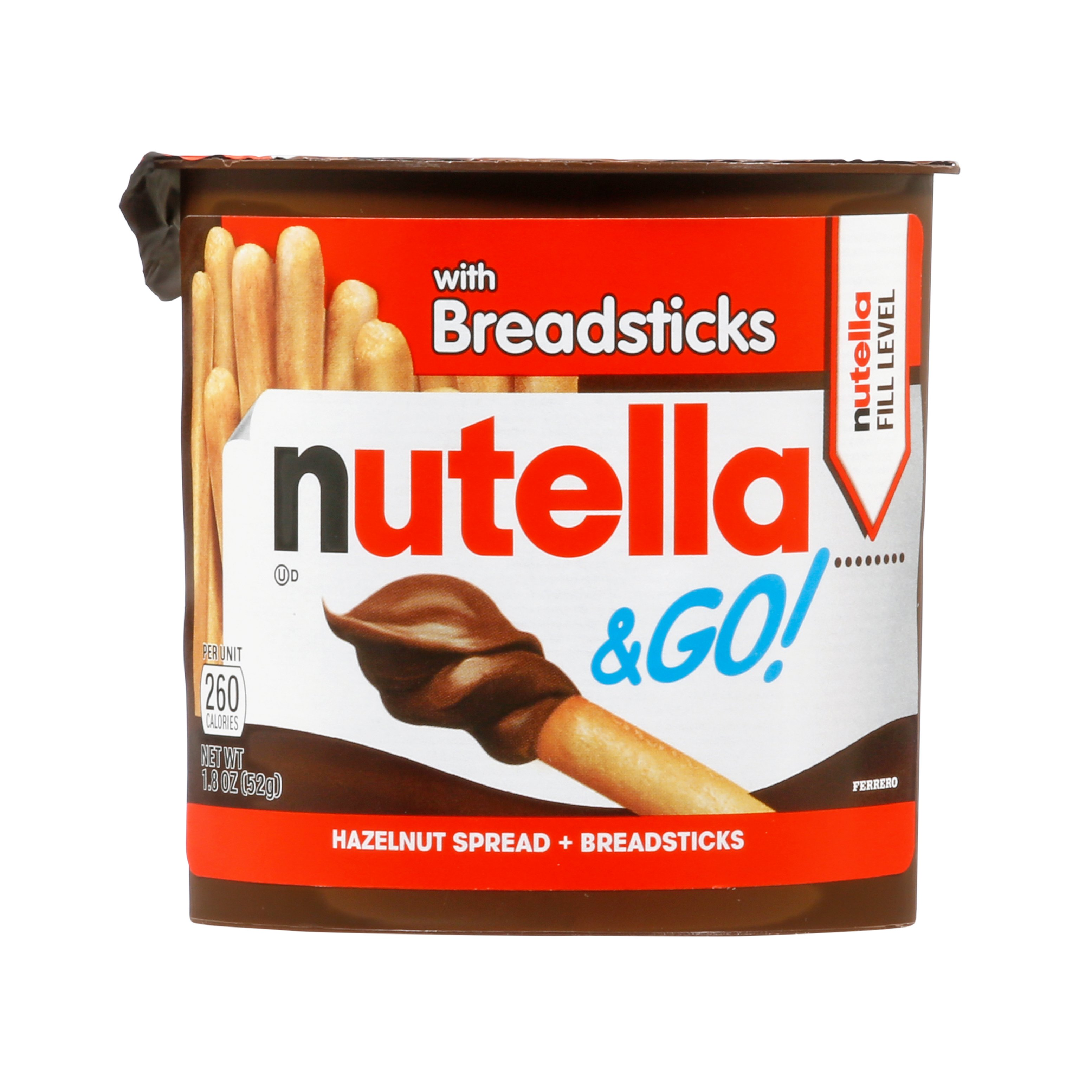 Connu Nutella & Go! Hazelnut Spread + Breadsticks - Shop Snack Bars at HEB MG92