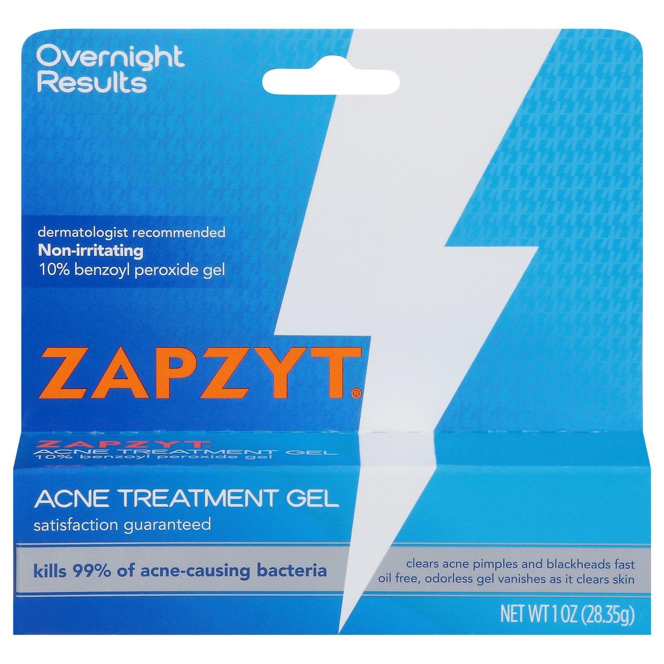 Zapzyt Acne Treatment Gel 10 Benzoyl Peroxide Shop Facial Masks