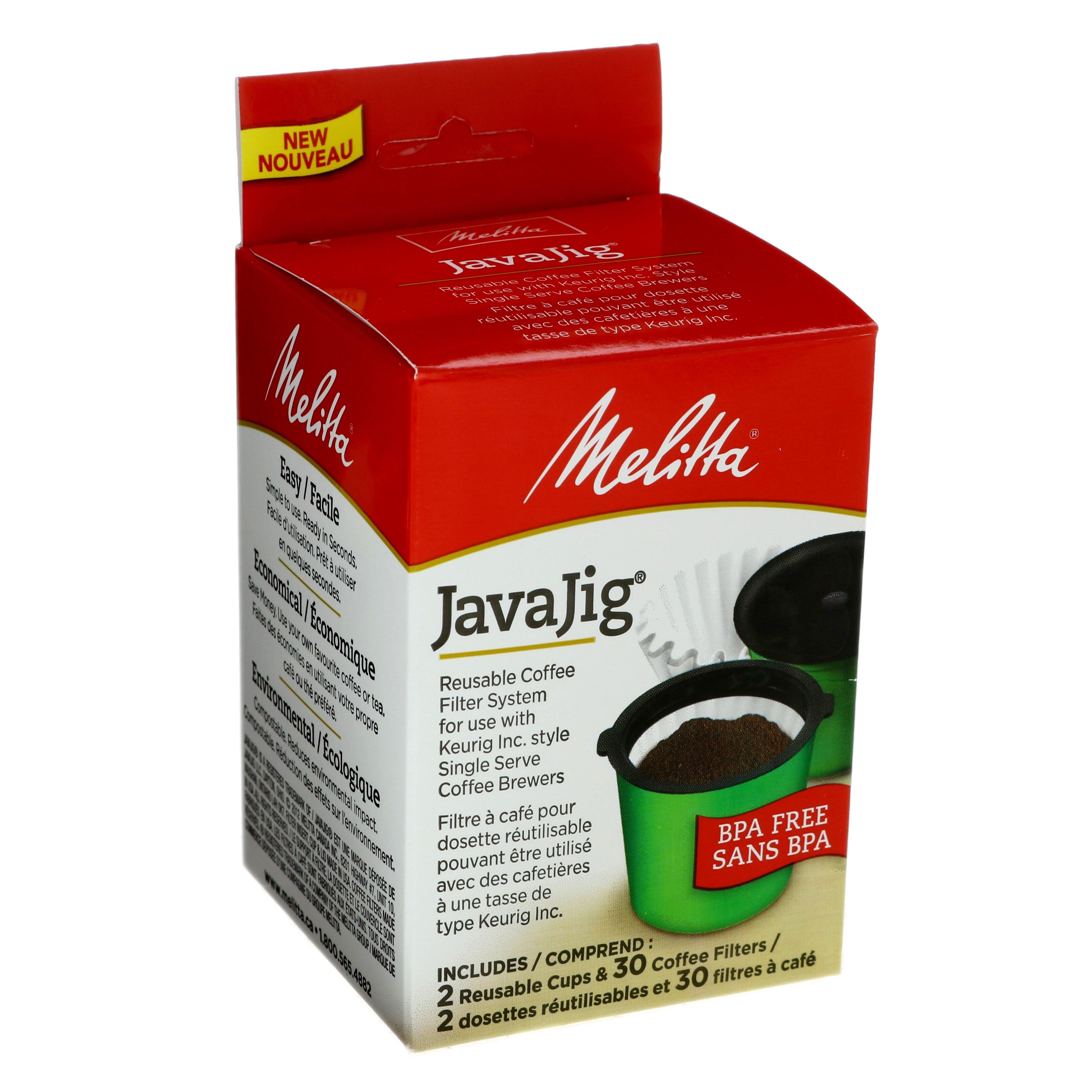 Melitta Java Jig Starter Pack, Reusable K‑Cups for Keurig K‑Cup Brewers