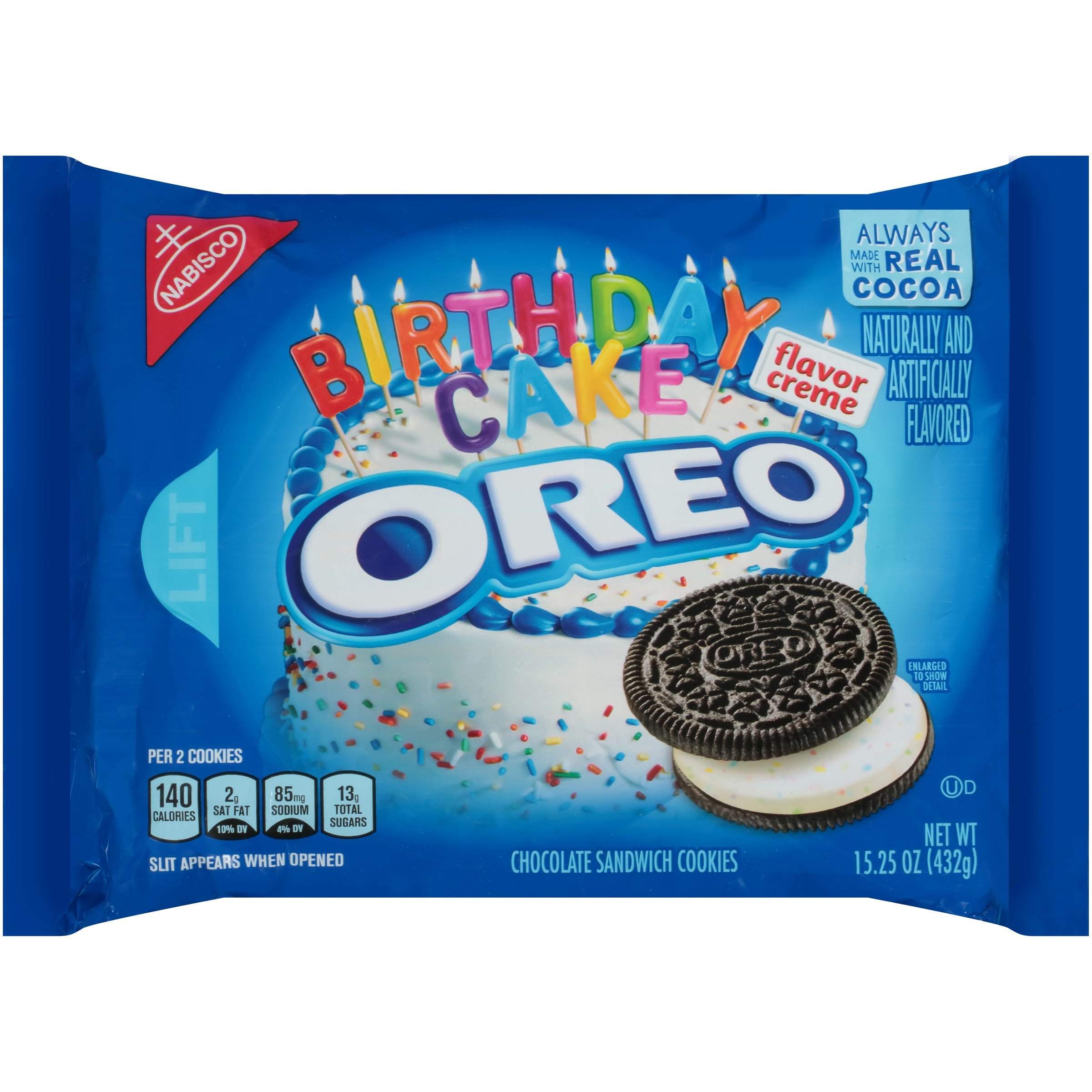 Swell Nabisco Oreo Birthday Cake Flavor Creme Chocolate Sandwich Cookies Funny Birthday Cards Online Fluifree Goldxyz