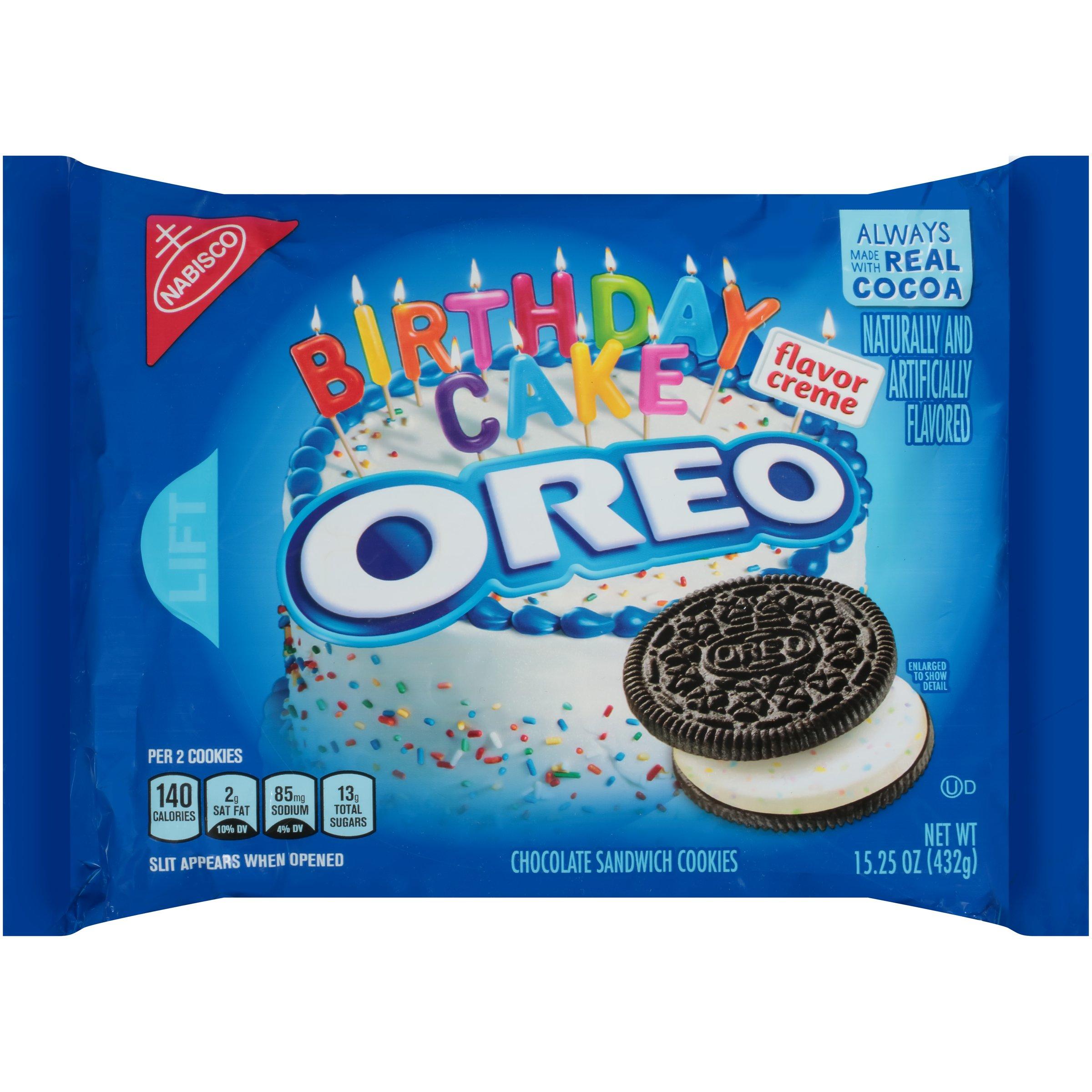 Strange Nabisco Oreo Birthday Cake Flavor Creme Chocolate Sandwich Cookies Funny Birthday Cards Online Fluifree Goldxyz