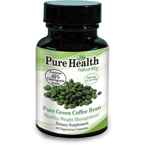 Pure Health Green Coffee Bean 800 Mg Dietary Supplement Vegetarian