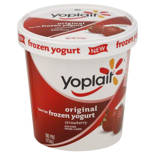 Low Fat Strawberry Frozen Yogurt
