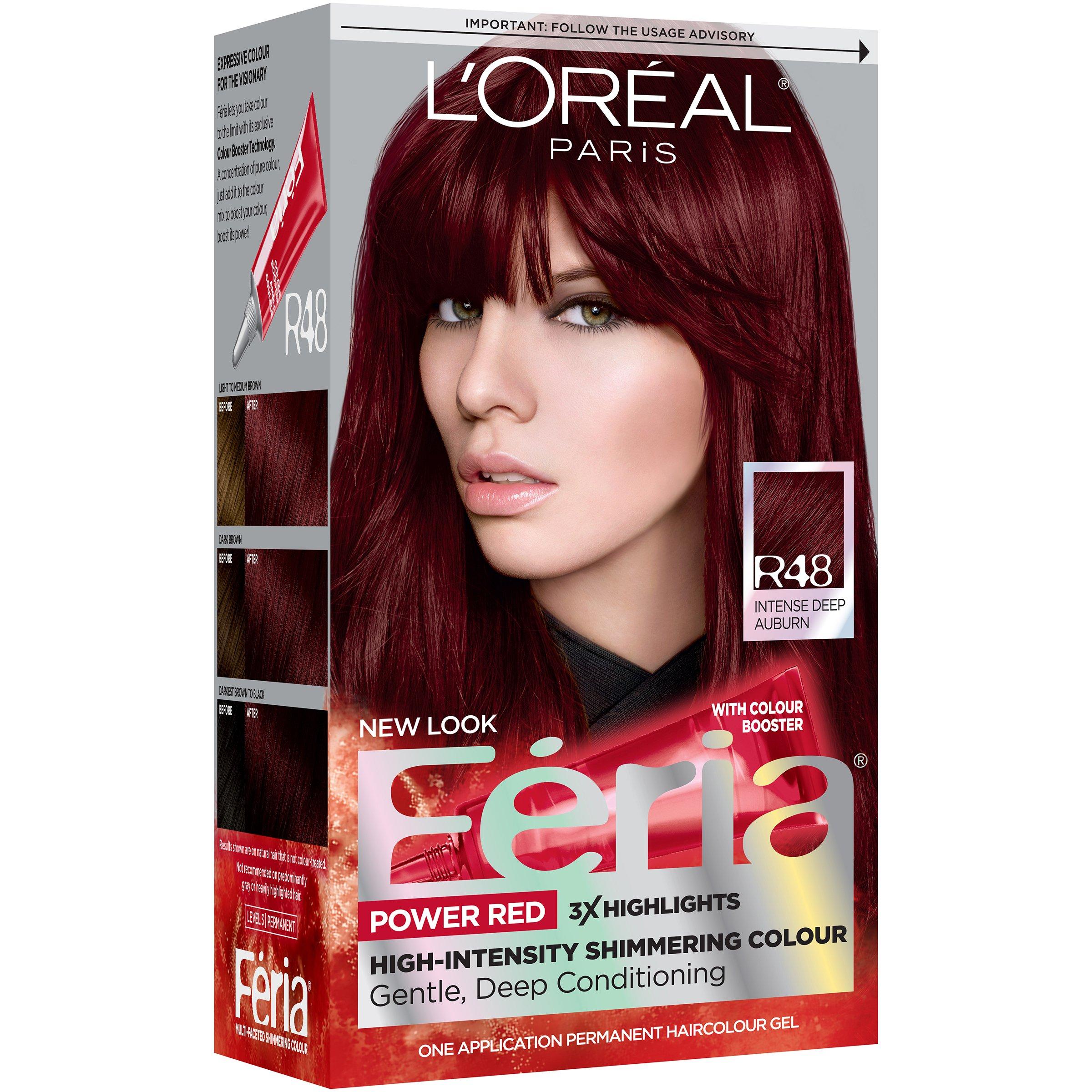 Loreal Paris Feria Power Reds R48 Intense Deep Auburn Shop Hair