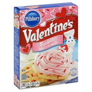pillsbury funfetti valentines sugar cookie mix with candy bits shop cookie dough at heb pillsbury