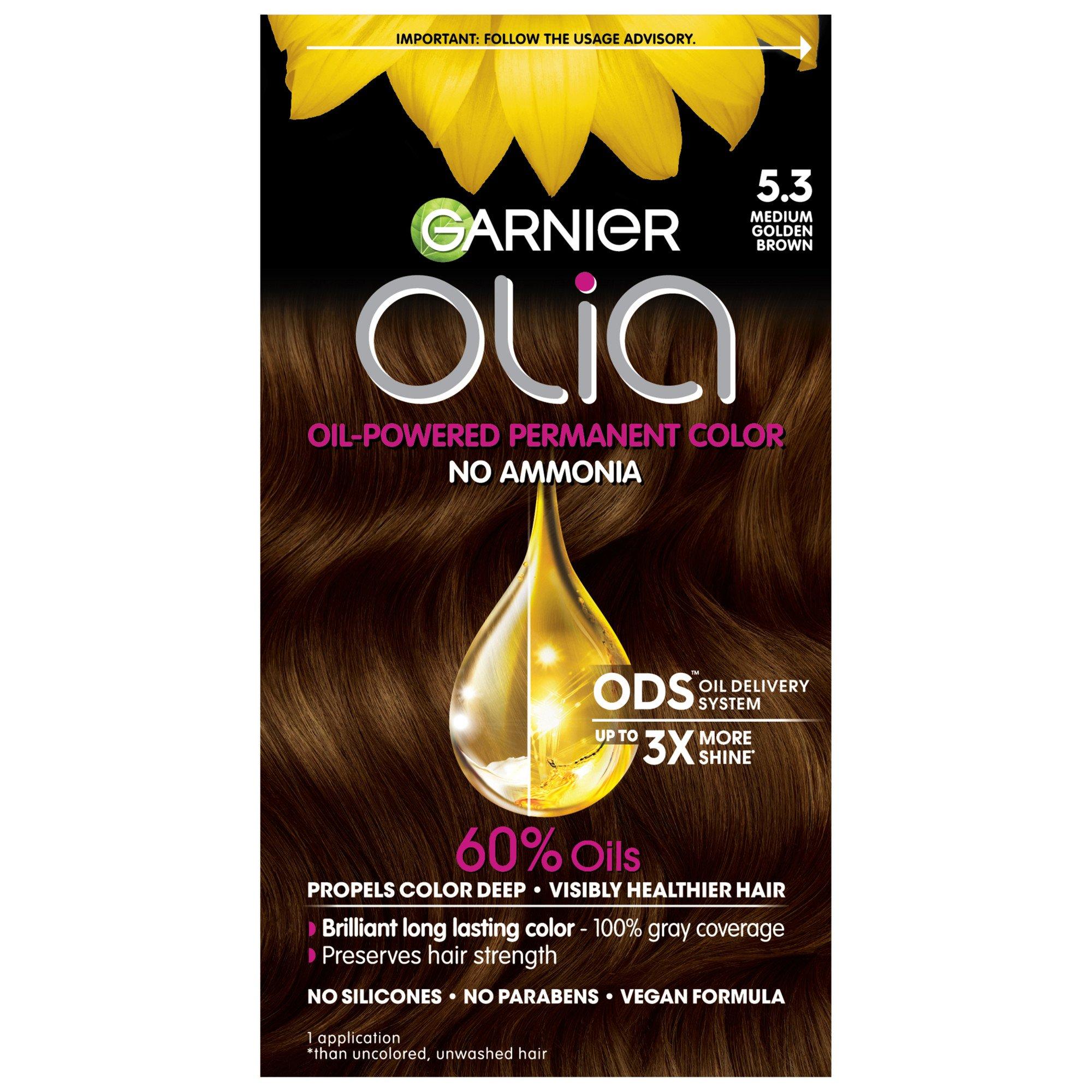 Garnier Olia Oil Powered Permanent Hair Color 53 Medium Golden