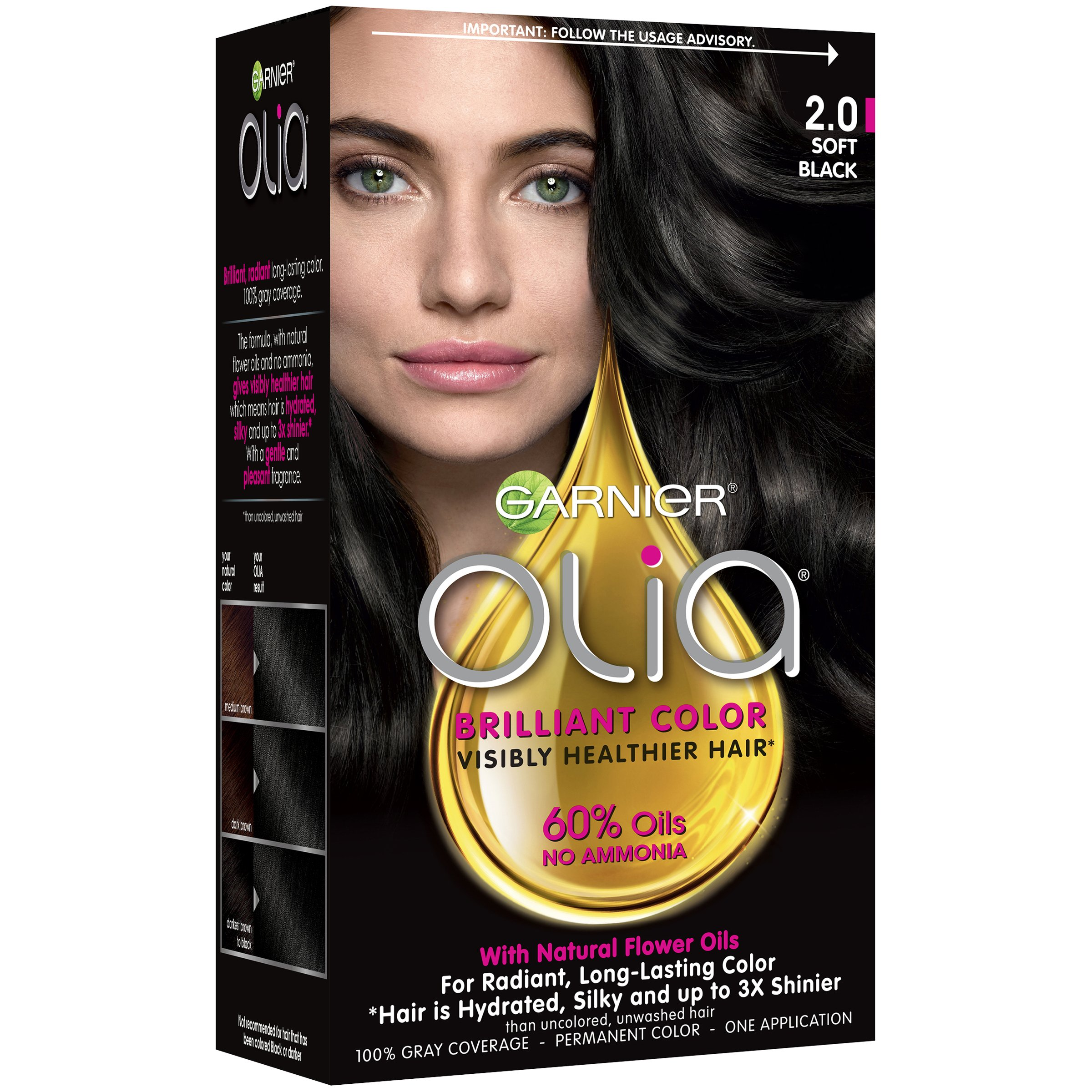 Garnier Olia Oil Ed Permanent Hair Color 4 11 Dark Platinum Brown Com