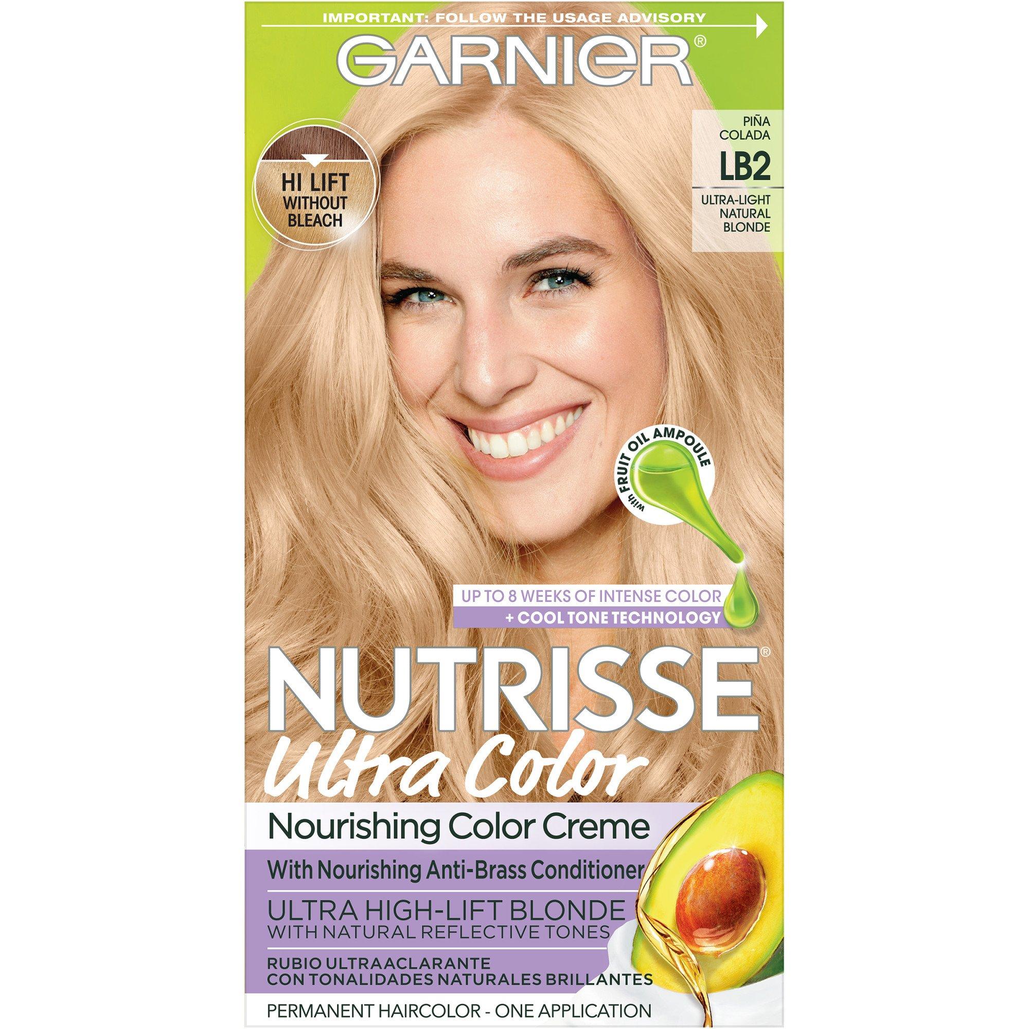 Garnier Nutrisse Nourishing Color Creme Lb2 Ultra Light Natural