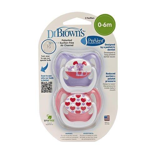 Dr. Brown's PreVent Unique Pacifier Stage 1 (0-6 Months ...