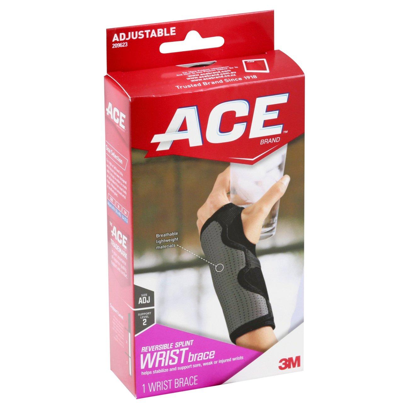 Ace Moderate Stabilizing Adjustable Splint Wrist Brace Shop