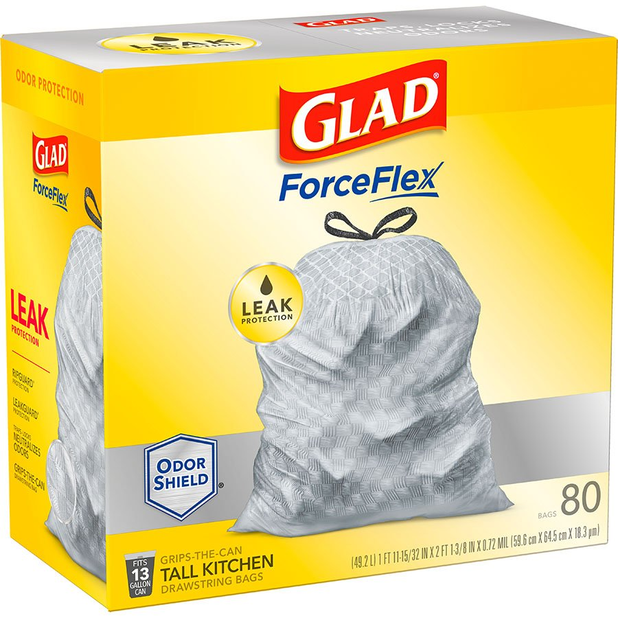 Glad ForceFlex Tall Kitchen Drawstring Trash Bags 13 Gallon - Shop ...