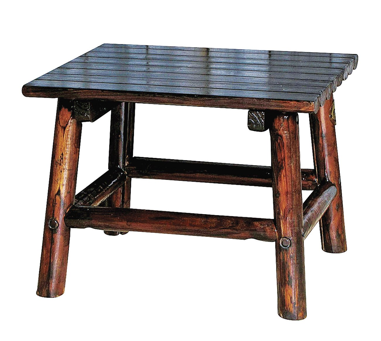 Char Log Texas Medallion Collection End Table   Shop Furniture At HEB