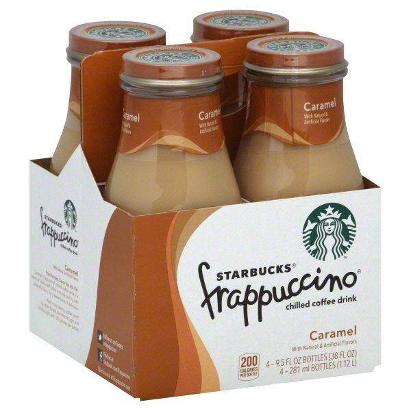 Starbucks Caramel Frappuccino Chilled Coffee Drink 9 5 Oz Bottles Shop Coffee At H E B
