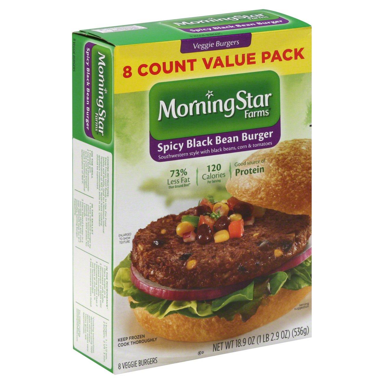 Morningstar Farms Spicy Black Bean Veggie Burgers Value Pack Shop