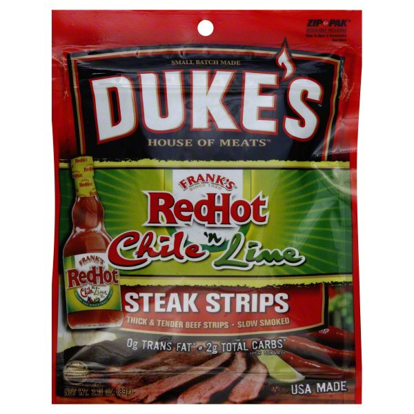 Dukeu0027s House Of Meats Franku0027s Red Hot Chili U0027n Lime Steak Strips   Shop  Jerky At HEB