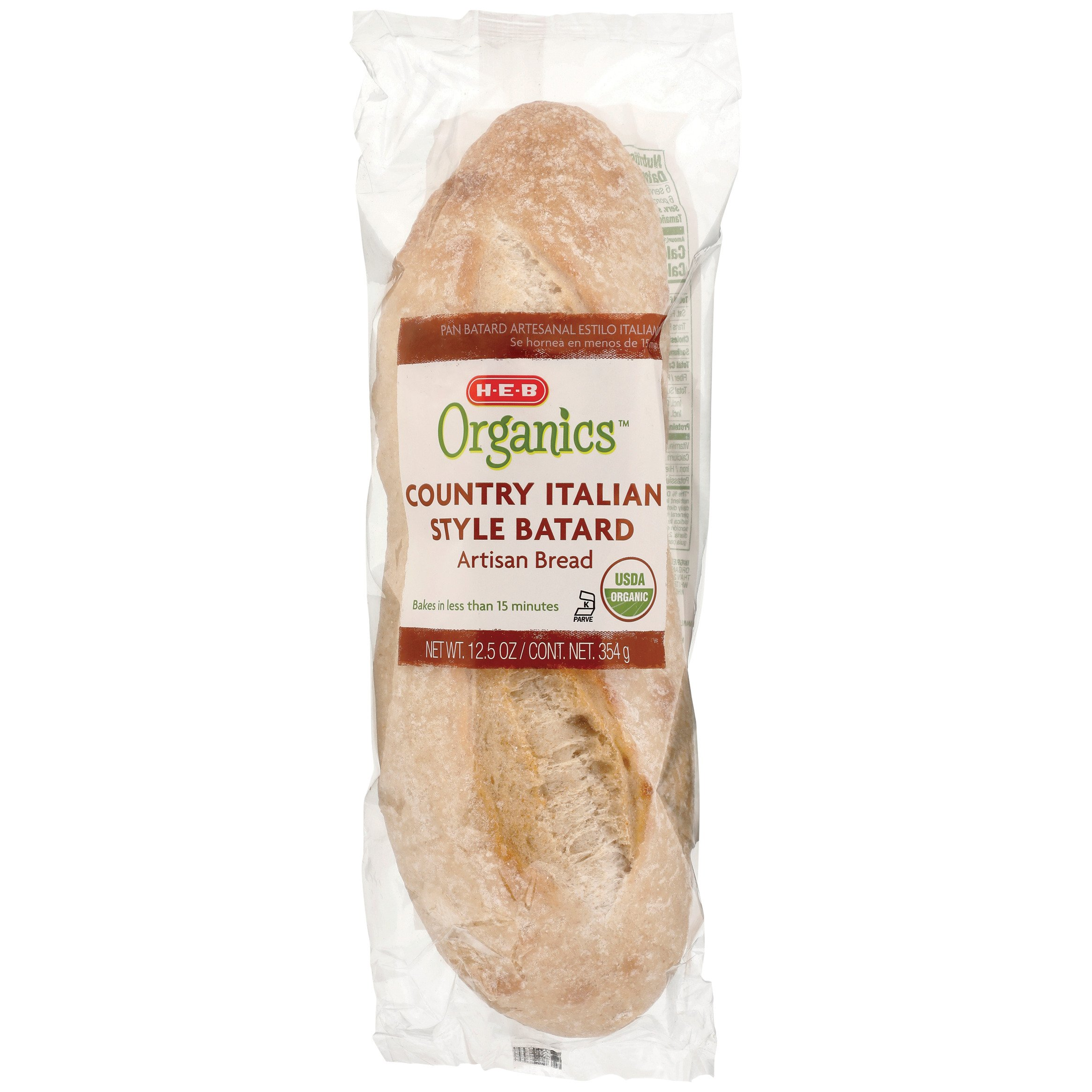H E B Organics Country Italian Bread Shop Bread At H E B