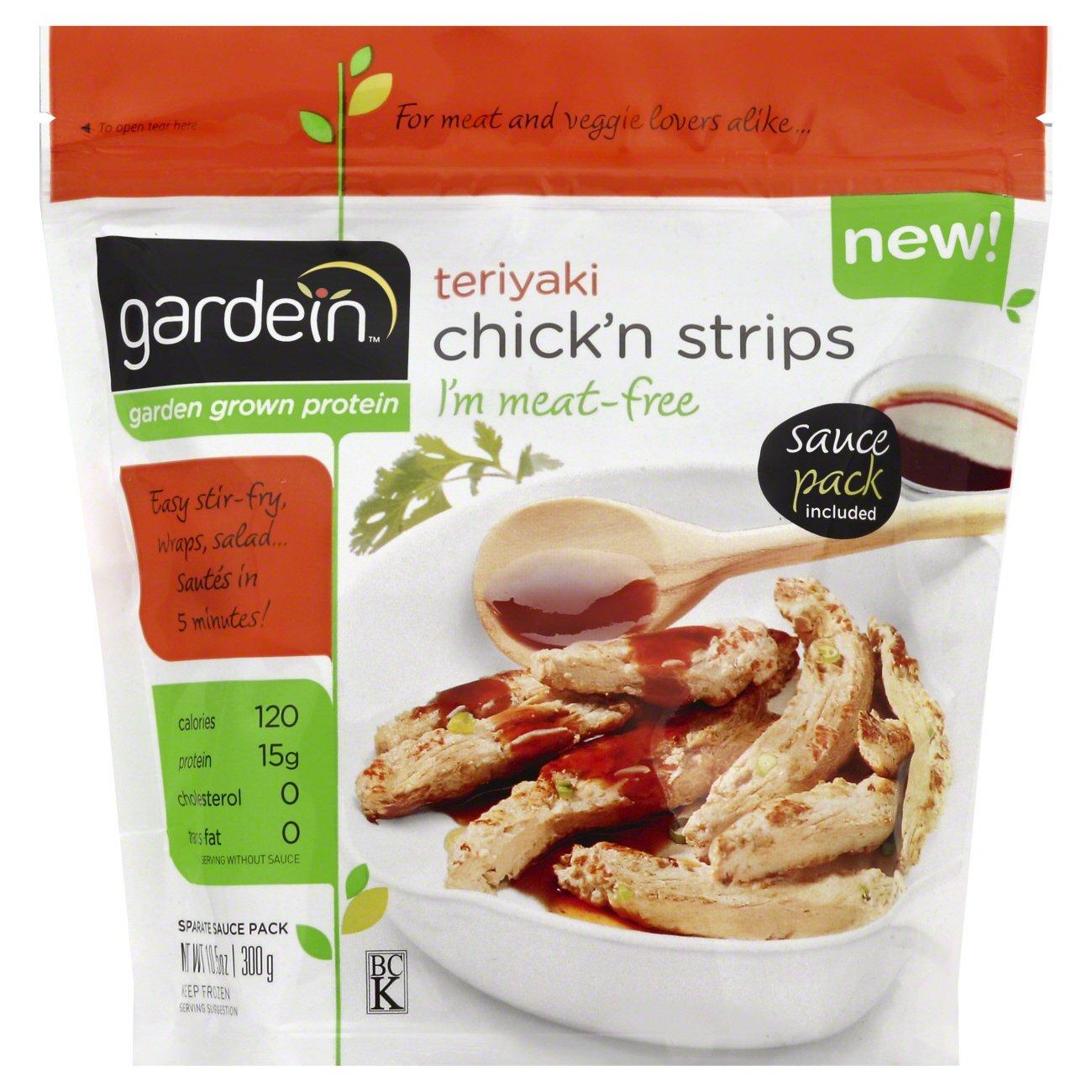 Gardein Teriyaki Chick N Strips Meat Free Shop Meat Alternatives At H E B