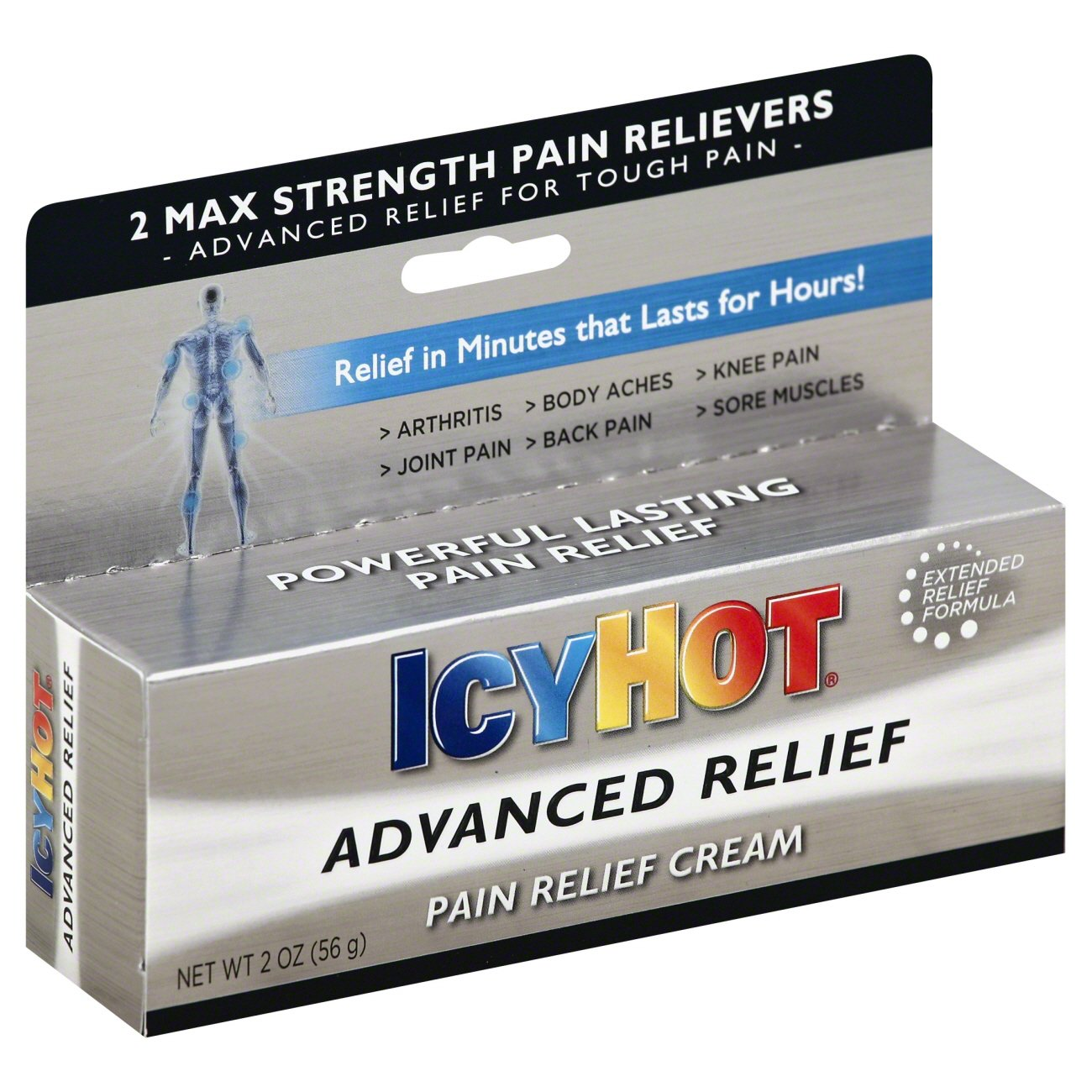 Icy Hot Advanced Pain Relief Cream Shop Muscle Joint Pain At Heb