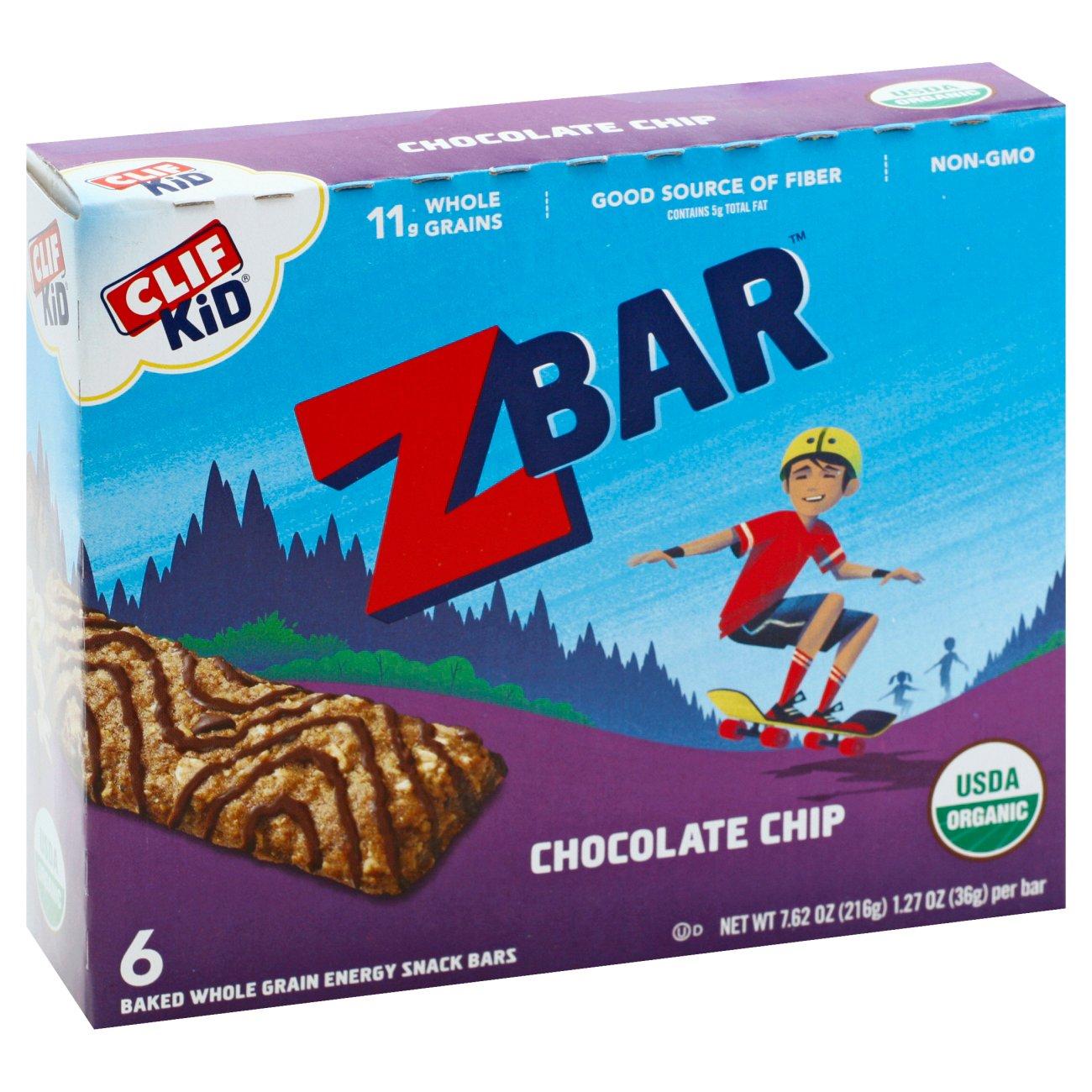 Clif Kid Organic Chocolate Chip Z Bars