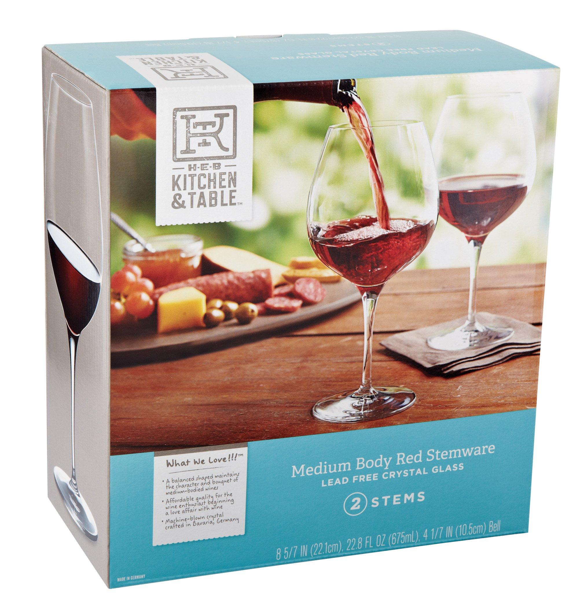 H‑E‑B Kitchen & Table Medium Body Red Wine Glasses ‑ Shop ...