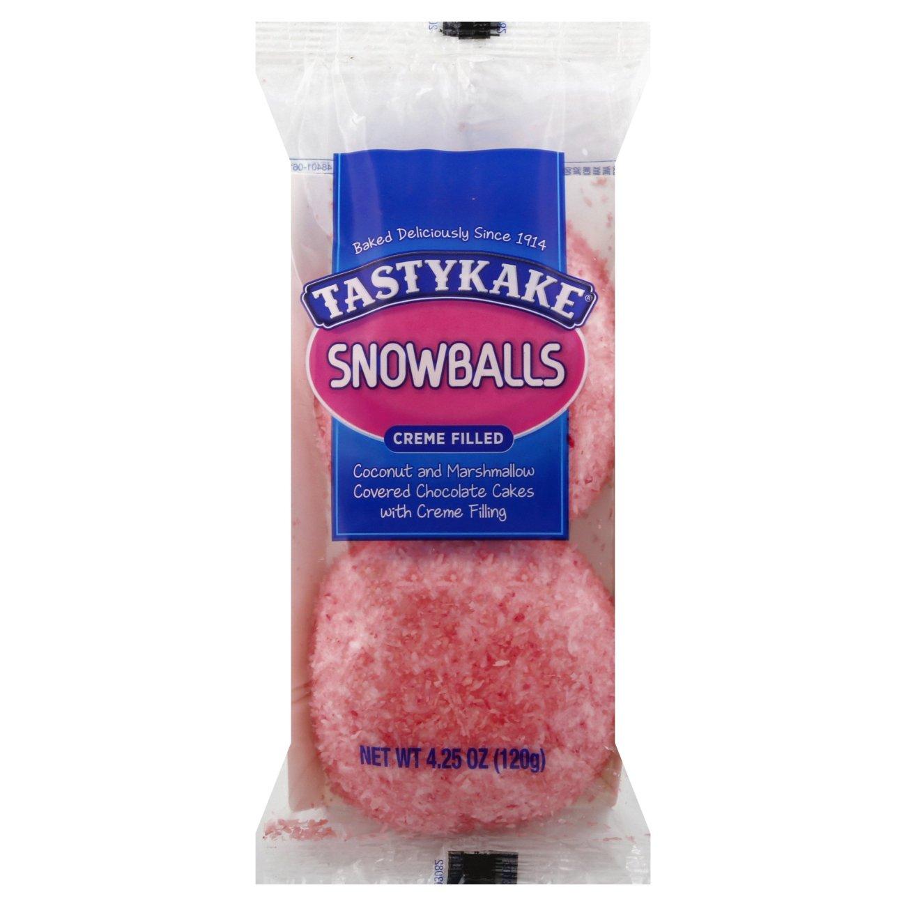 Tastykake Creme Filled Snowballs - Shop Snack Cakes at H-E-B