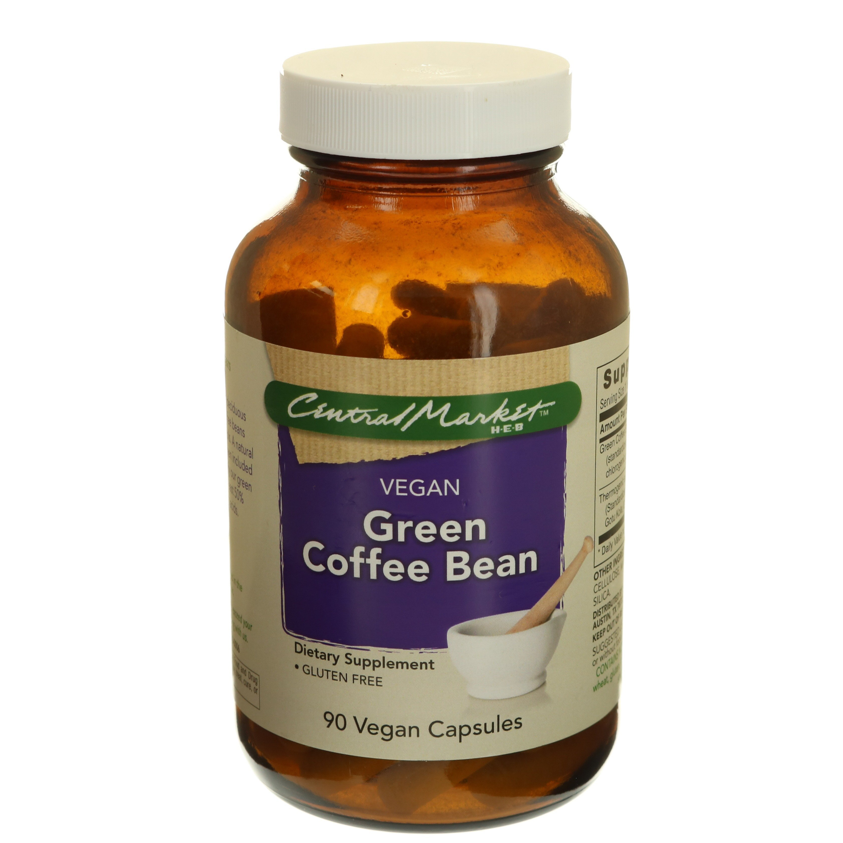 Central Market Green Coffee Bean Vegan Capsules Shop Diet