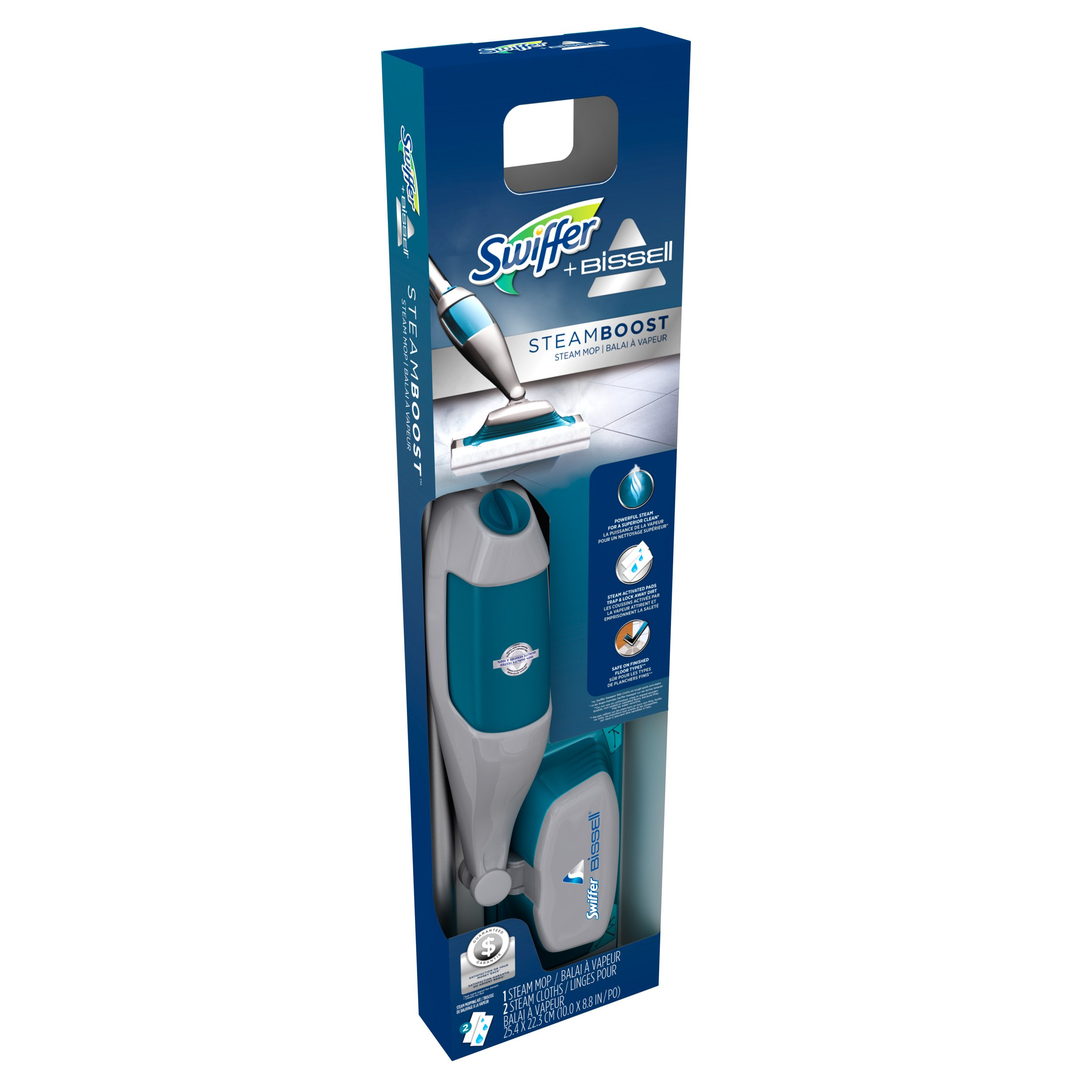 swiffer steamboost powered by bissell steam mop starter kit shop
