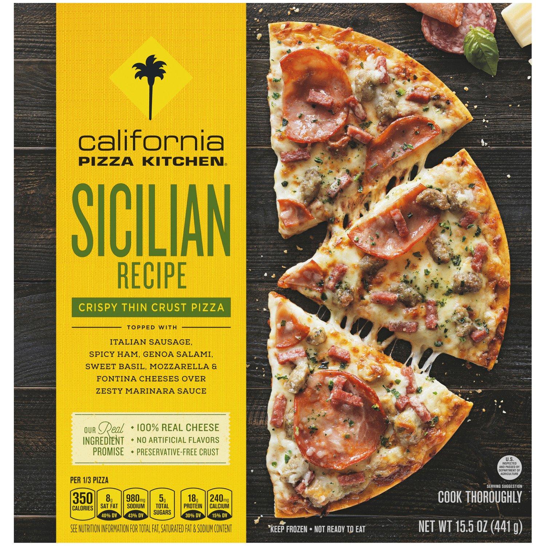 california pizza kitchen crispy thin crust sicilian recipe pizza shop pizza at heb - California Pizza Kitchen Calories