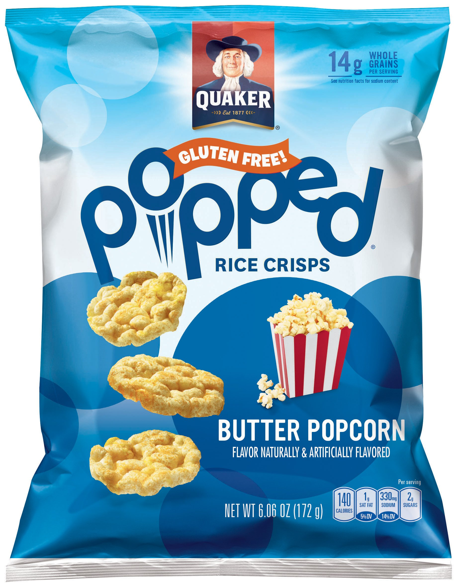 Quaker Popped Buttered Popcorn Shop Rice Cakes At H E B