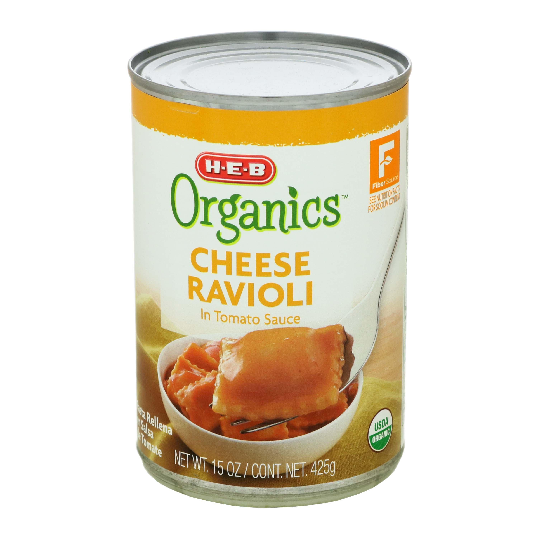 H‑E‑B Organics Cheese Ravioli in Tomato Sauce ‑ Shop Canned Pasta at HEB