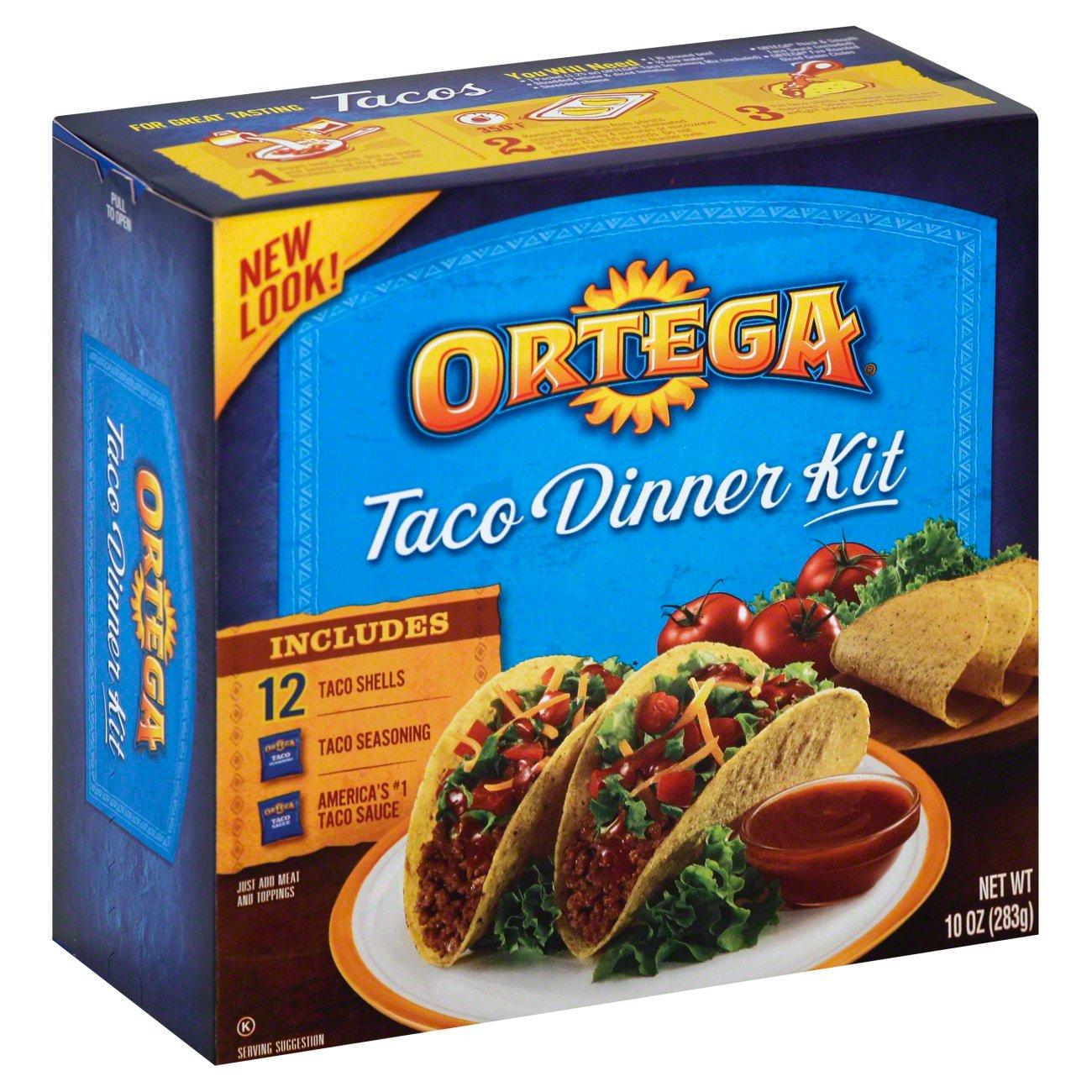 Ortega Taco Dinner Kit Shop Pantry Meals At H E B