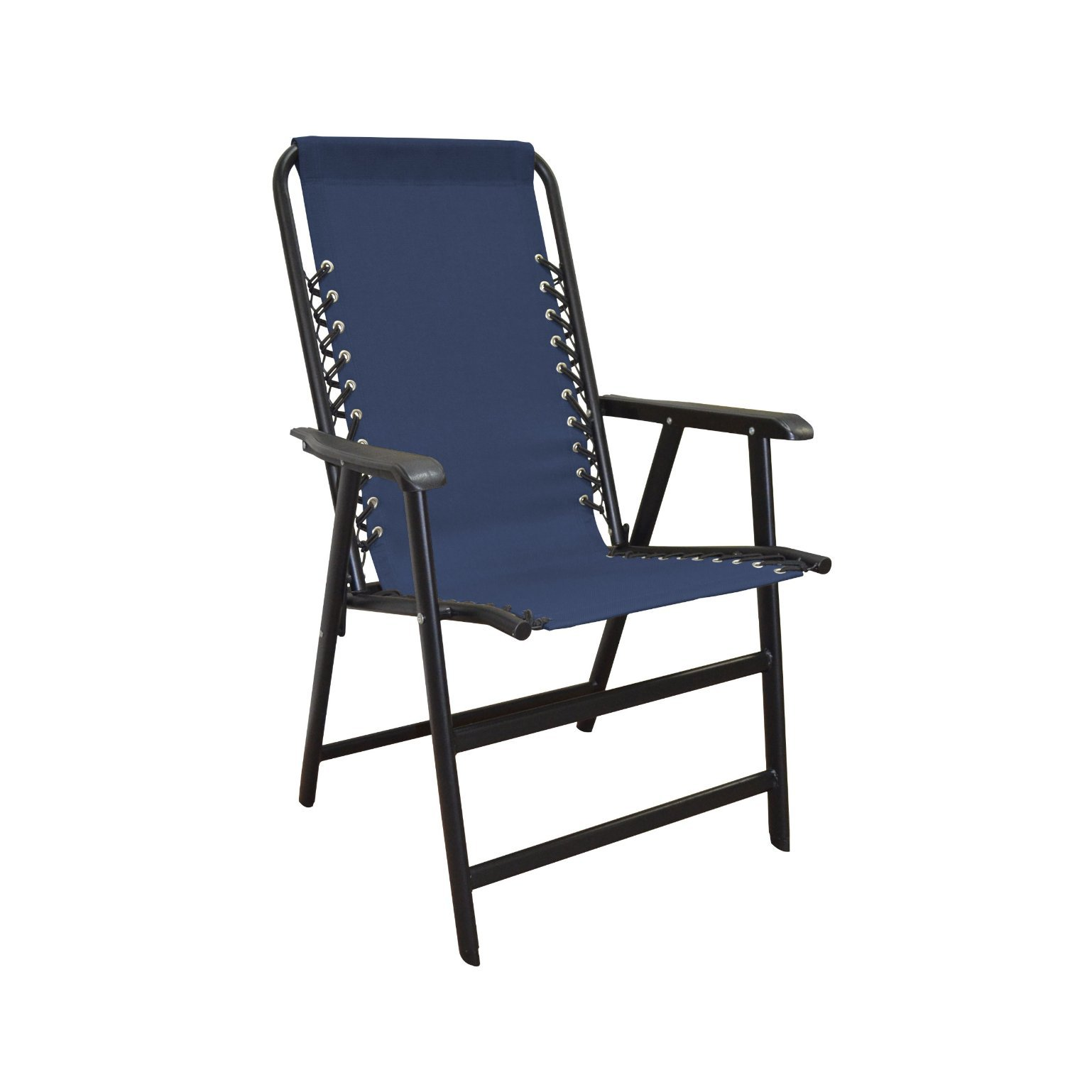 Caravan Blue Folding Bungee Chair Shop Furniture at HEB