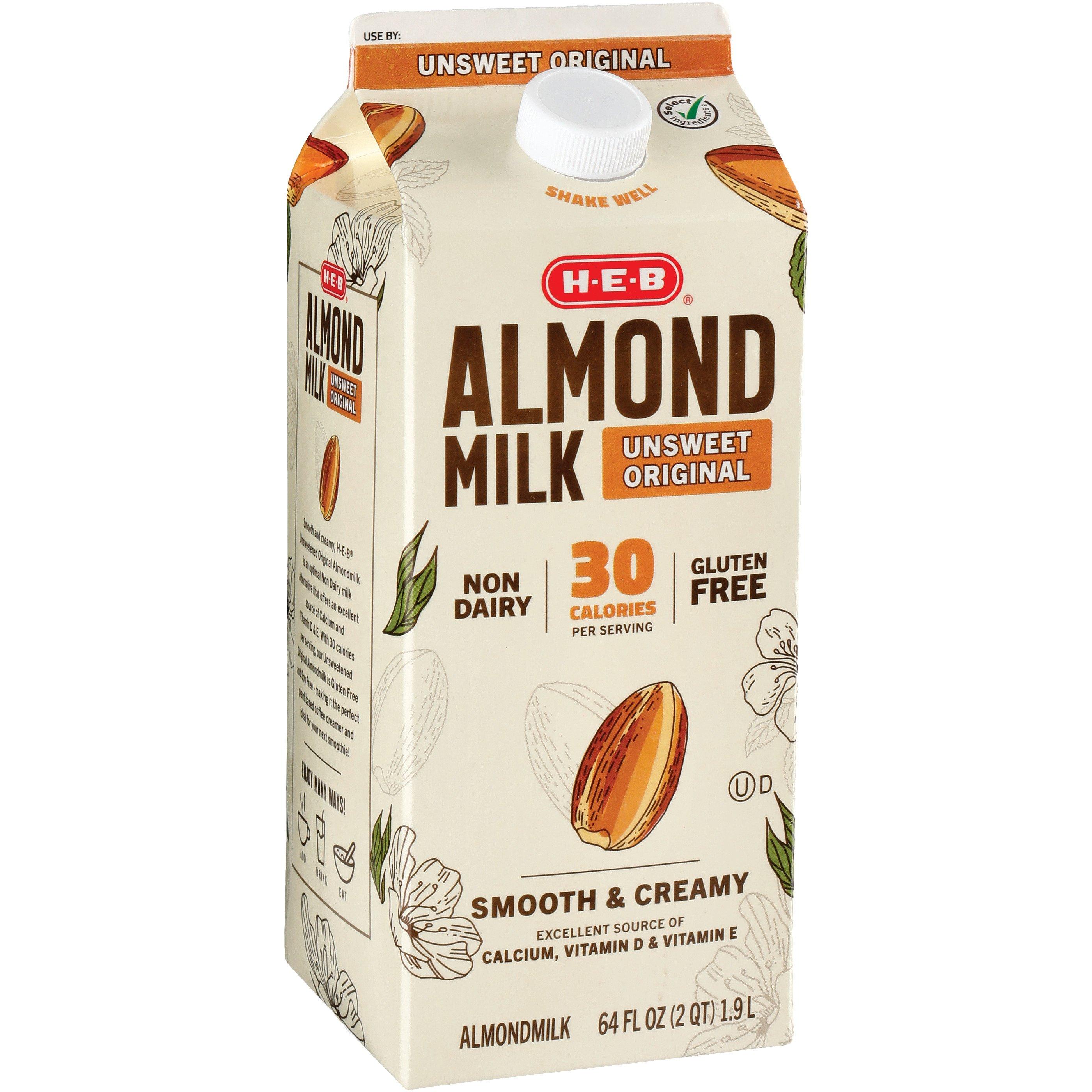 H‑E‑B Unsweet Original Almond Milk