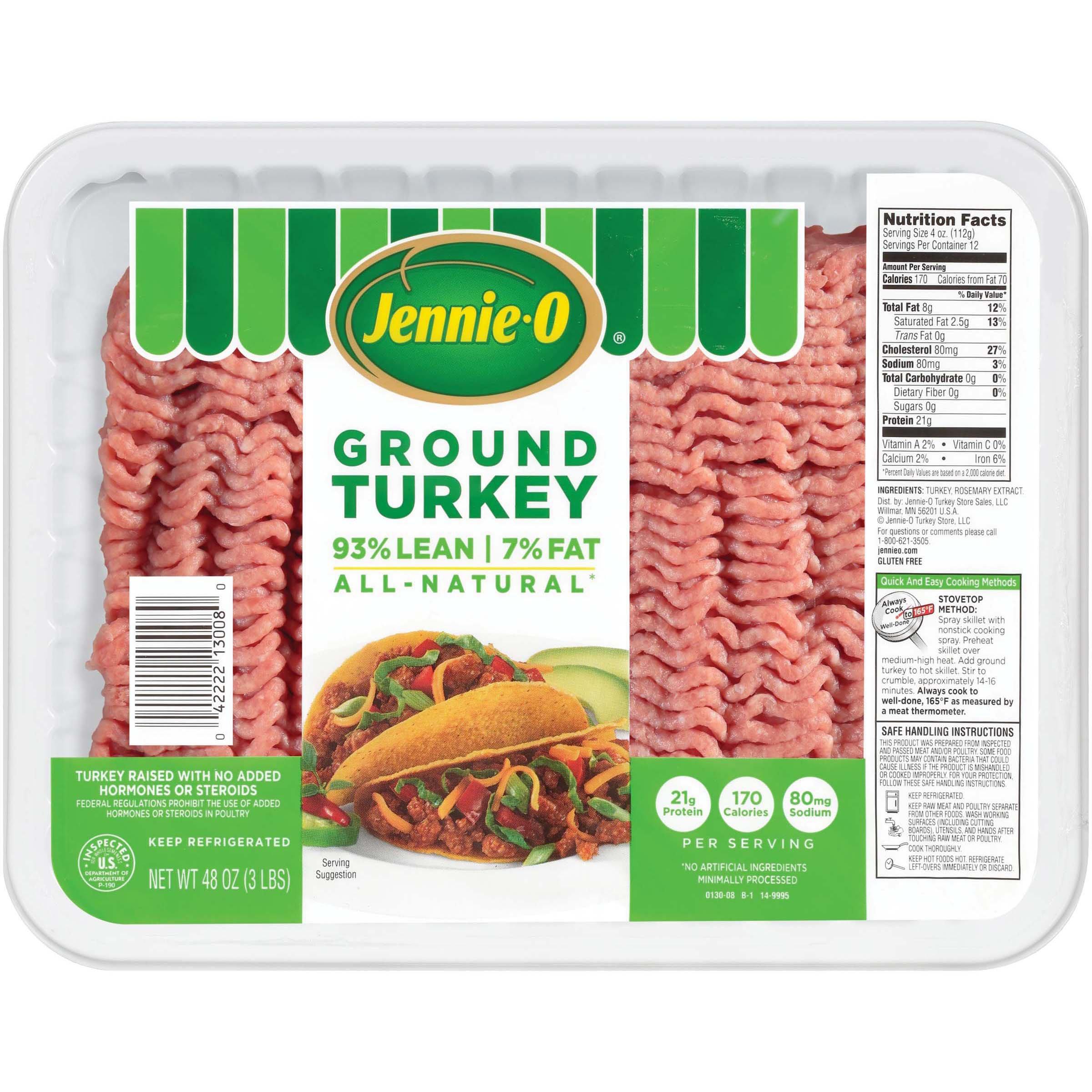 Jennie O Ground Turkey 93 Lean Shop Turkey At H E B