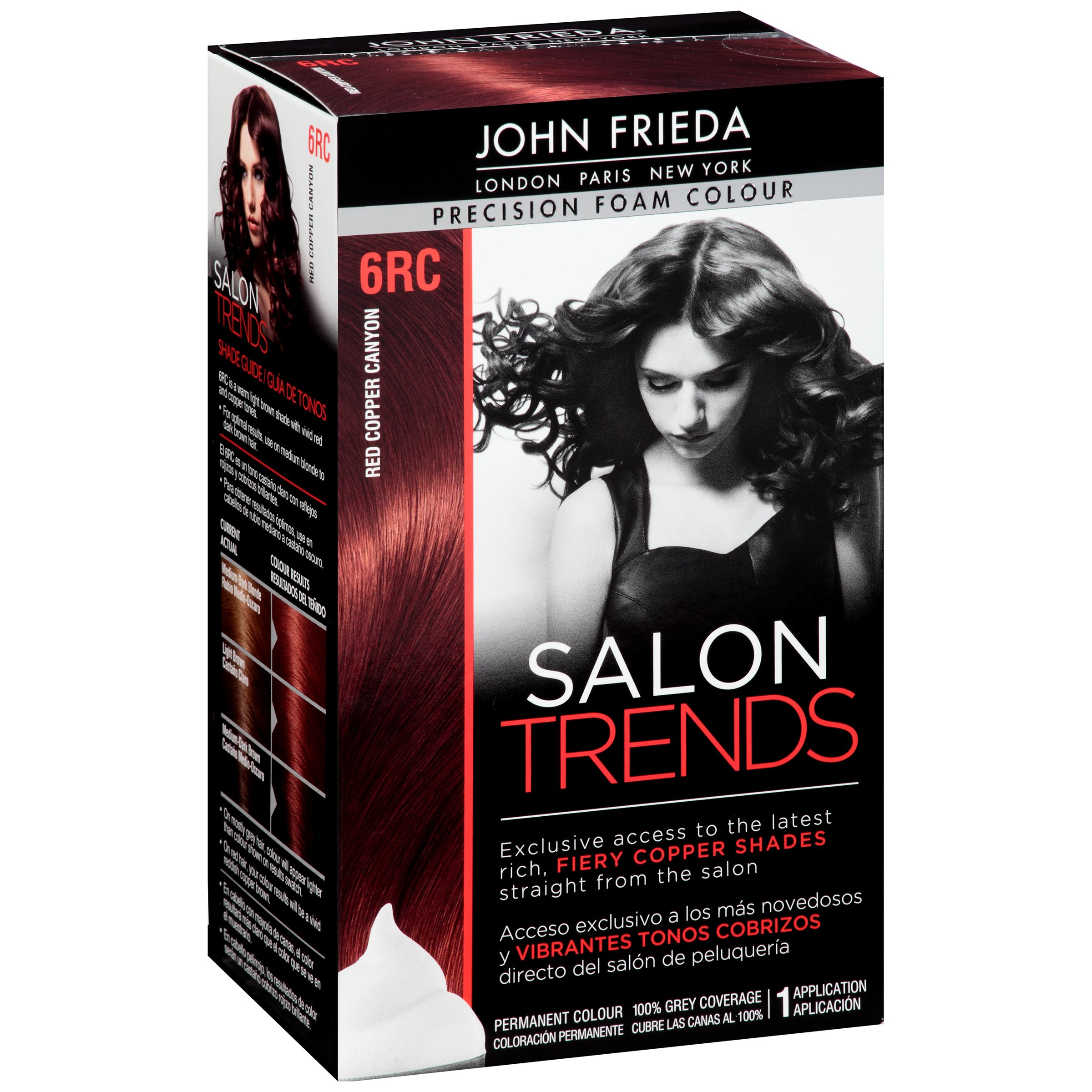 John Freida Red Copper Canyon Precision Foam Colour 6rc Shop Hair