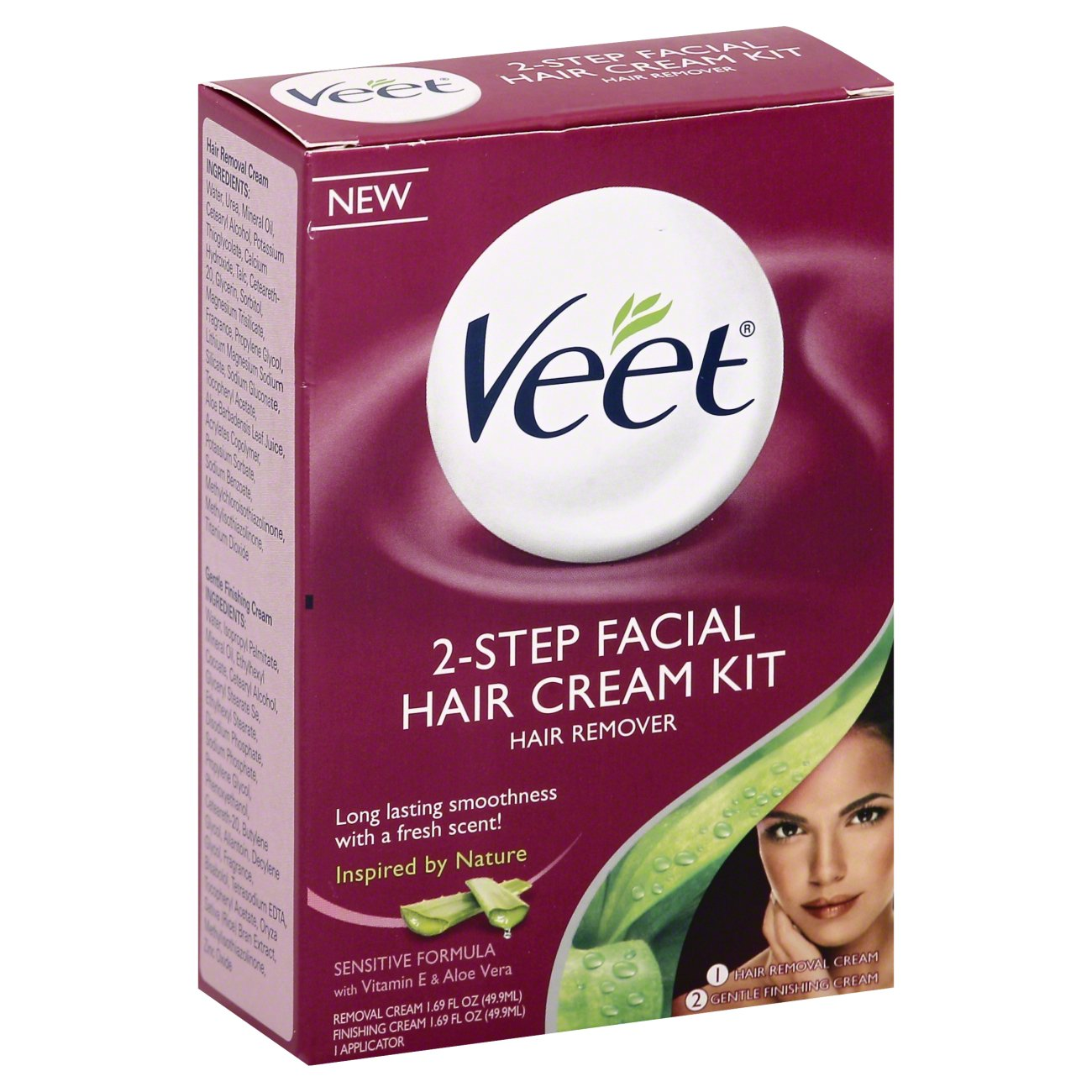 Veet 2 Step Facial Hair Cream Kit Hair Remover Shop Depilatories