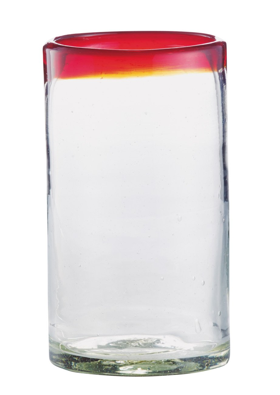 Cocinaware Red Mexican Bubble Glass Highball Tumbler Shop Glasses Mugs At H E B