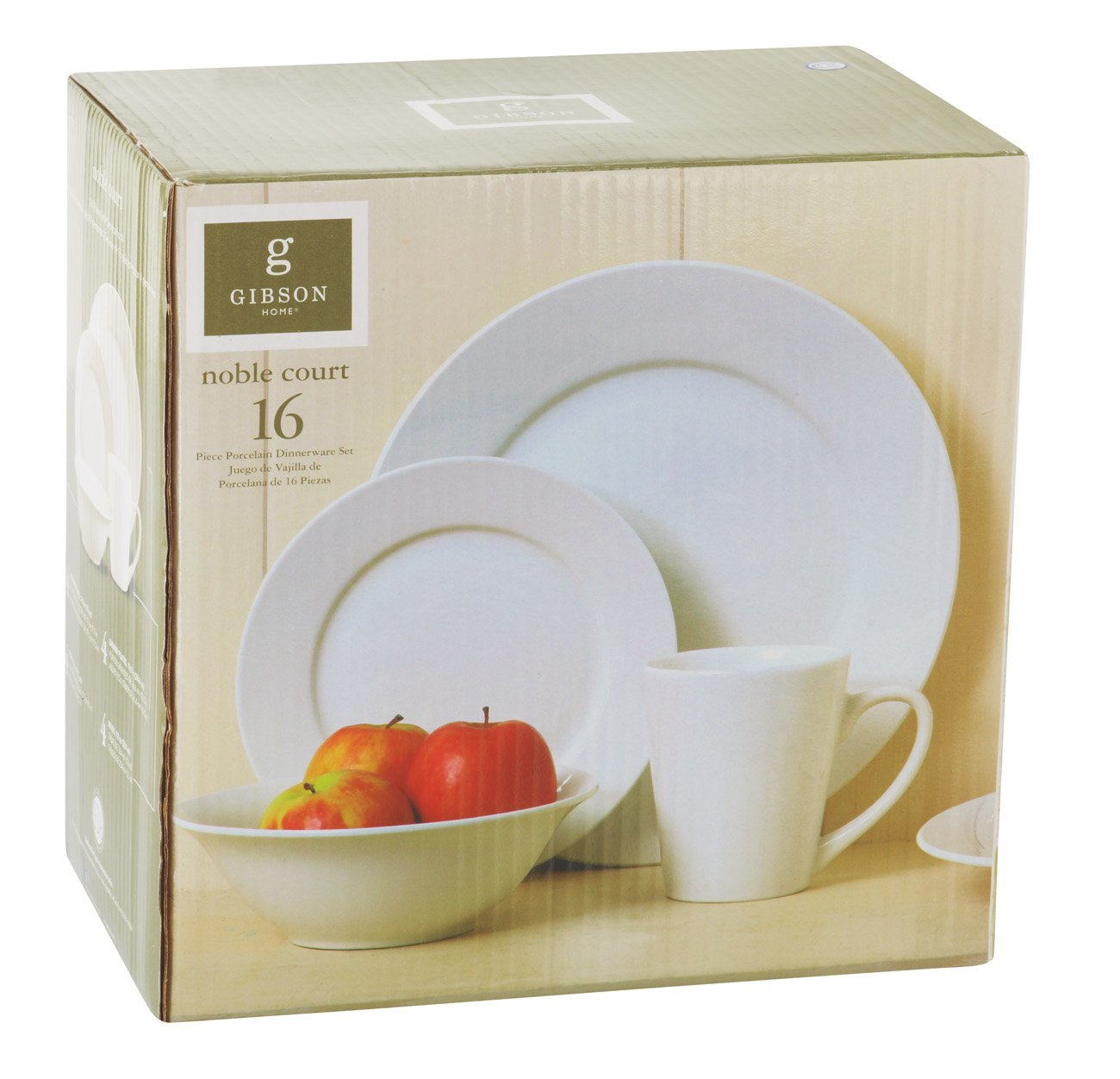 sc 1 st  HEB.com & Gibson Nobel Court 16 Piece Dinnerware Set - Shop Dishes at HEB