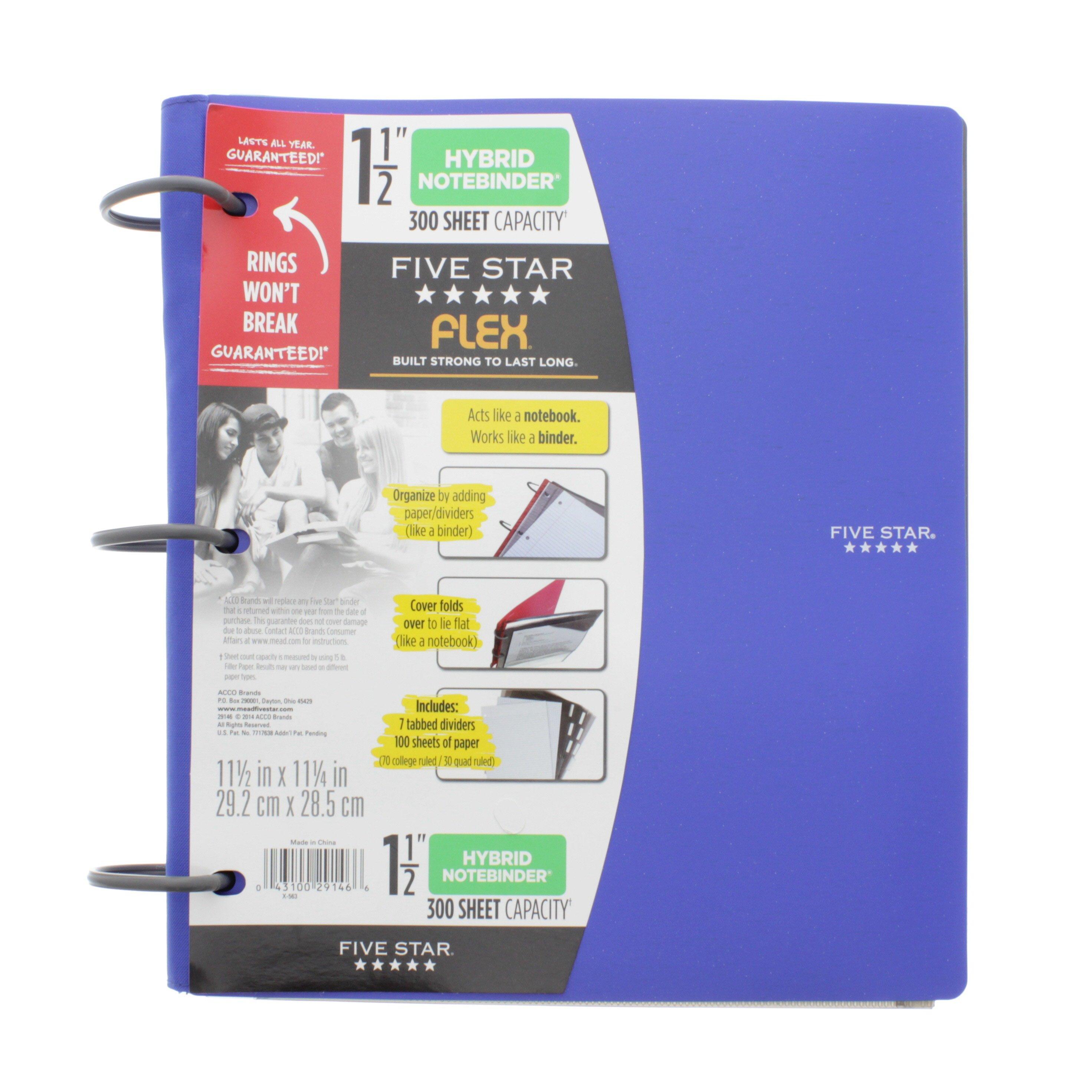 FIVE STAR Flex Hybrid Notebinder, 300 Sheet Capacity
